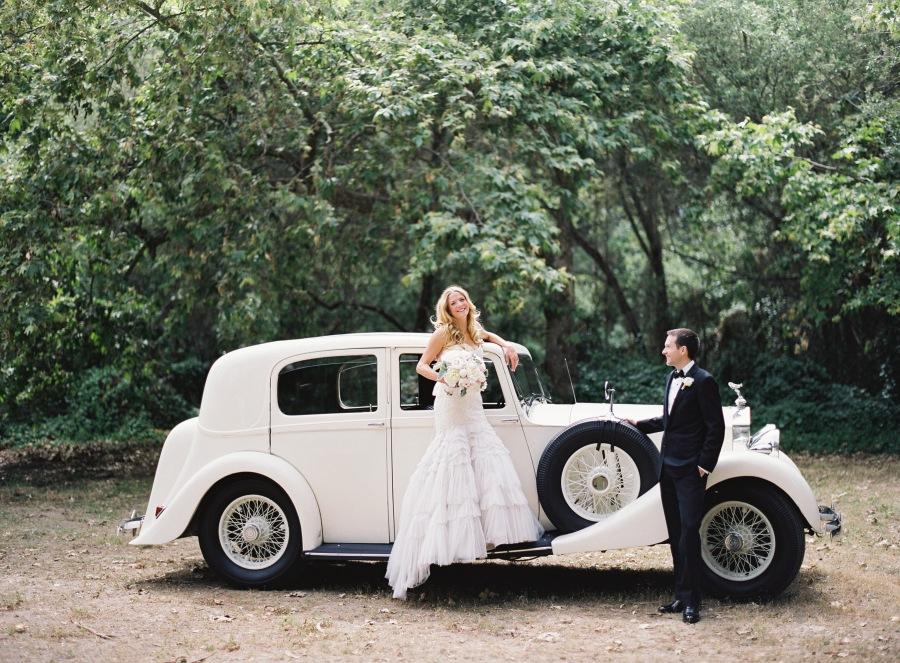 www.santabarbarawedding.com | Patrick Moyer Photography | Dos Pueblos Ranch | Soigné Productions | Tours A La Carte | Bride and Groom by Rolls Royce