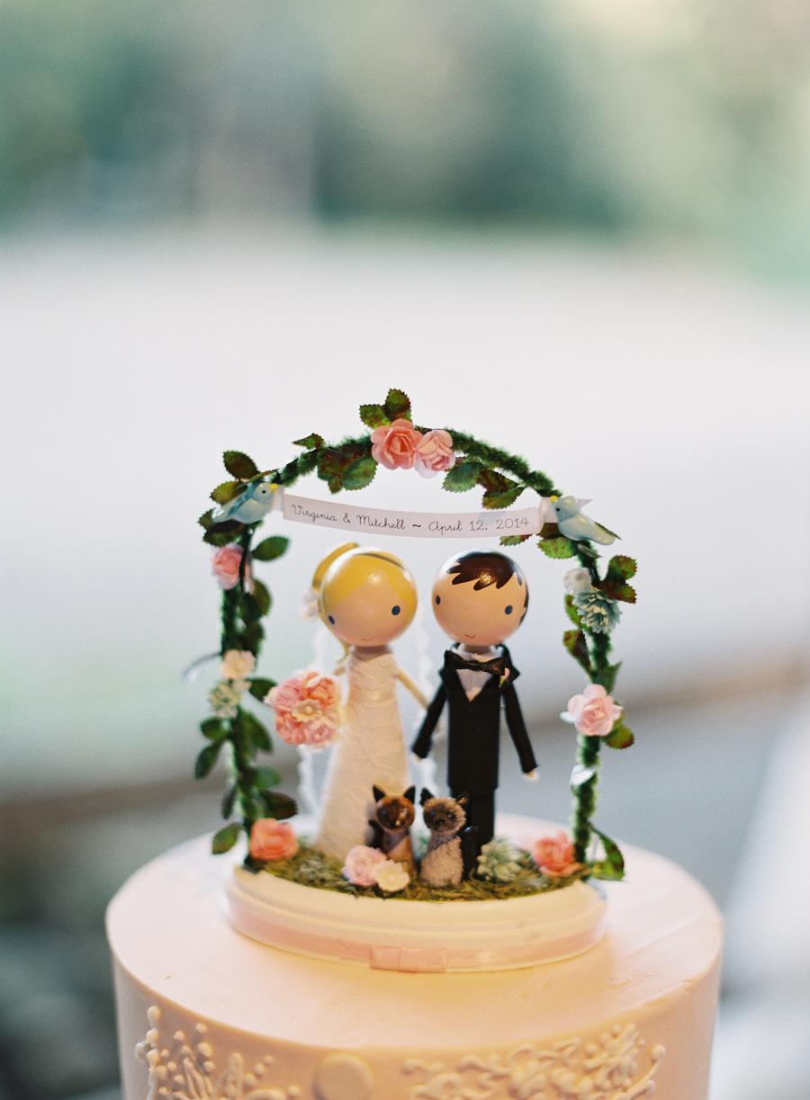 www.santabarbarawedding.com | Patrick Moyer Photography | Dos Pueblos Ranch | Soigné Productions | Lollipop Workshop | Decadence Fine Cakes | Wedding Cake Topper