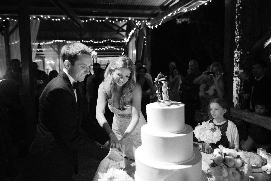 www.santabarbarawedding.com | Patrick Moyer Photography | Dos Pueblos Ranch | Soigné Productions | Lollipop Workshop | Decadence Fine Cakes | Cutting the Wedding Cake