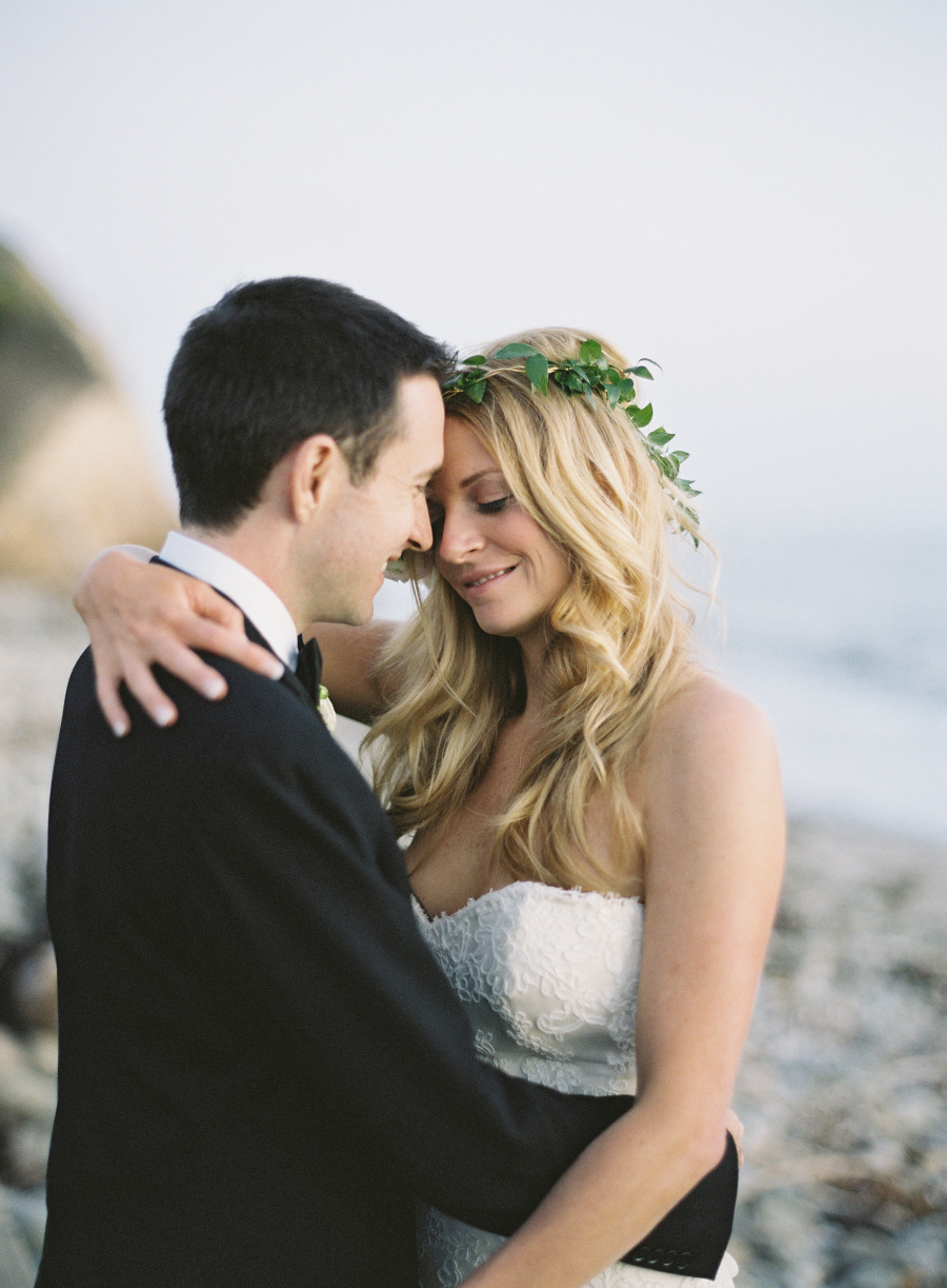 www.santabarbarawedding.com | Patrick Moyer Photography | Dos Pueblos Ranch | Soigné Productions | These Buds a Blooming | Bride and Groom by the Ocean