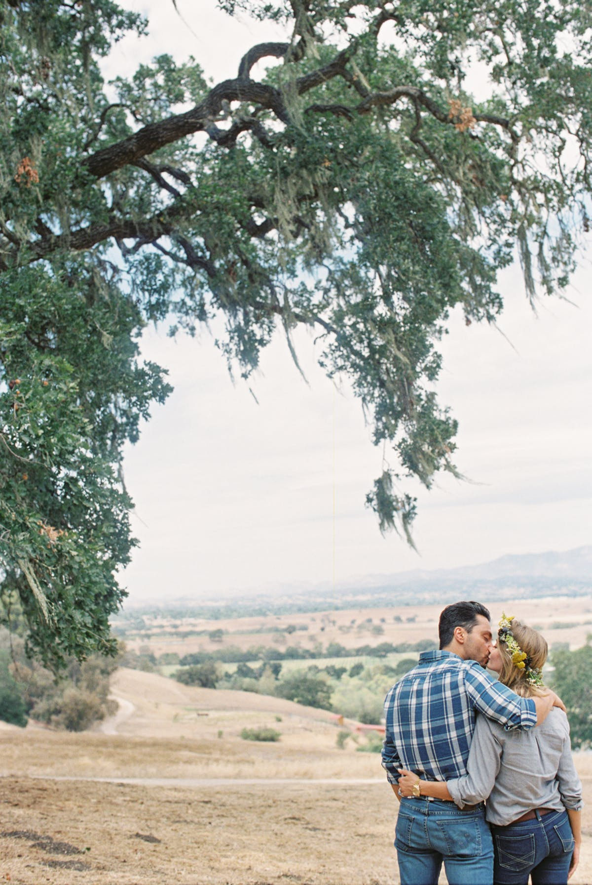 www.santabarbarawedding.com | Michael + Anna Costa Photography | Refugio Ranch | Alegria by Design | Like a Letter Videography | Anna Le Pley Taylor | Couple Embracing