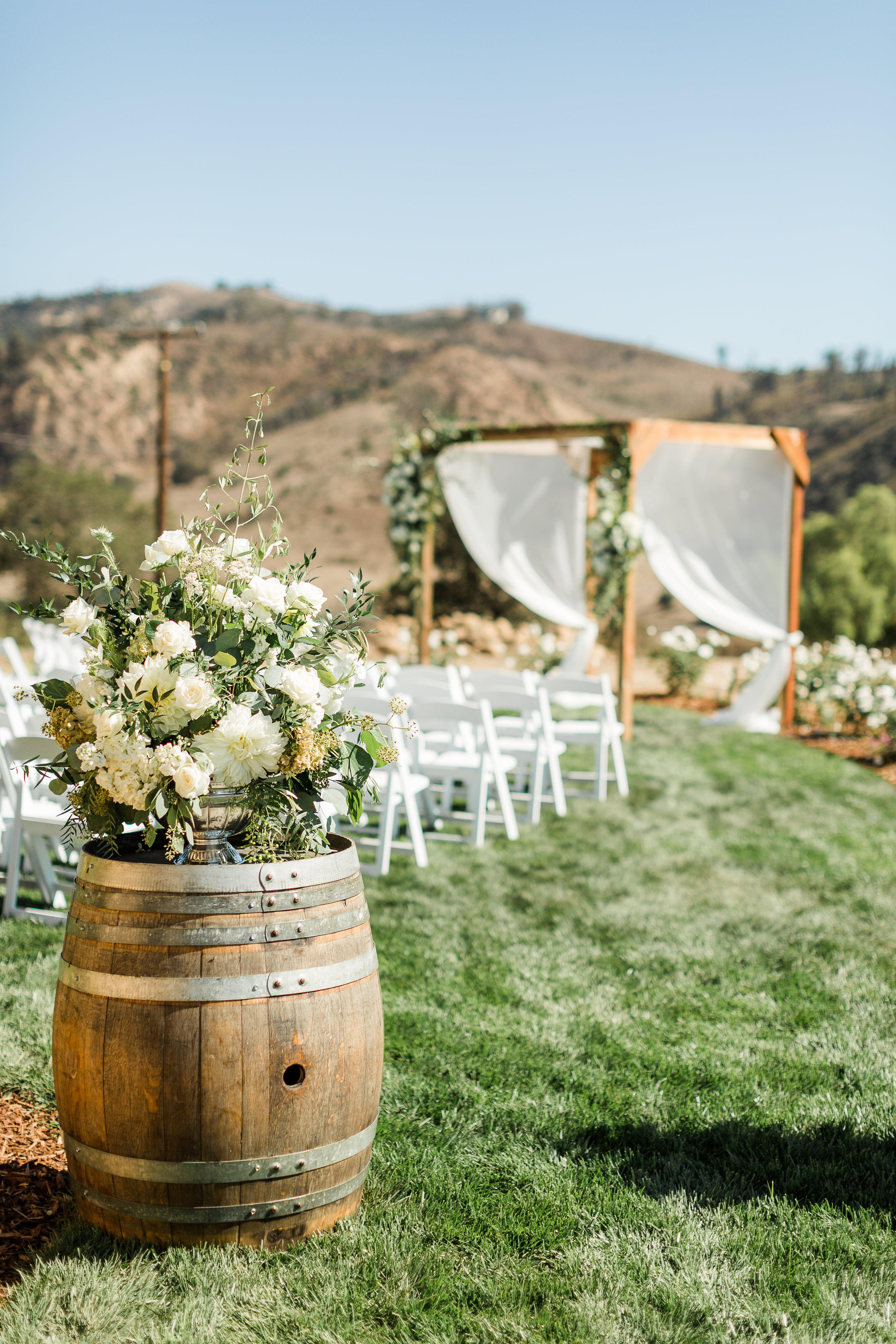 www.santabarbarawedding.com | Whitney Turner Photography | Parsons Ranch | Events by Rincon | The Tent Merchant | Margaret Joan Florals | Ceremony Set Up