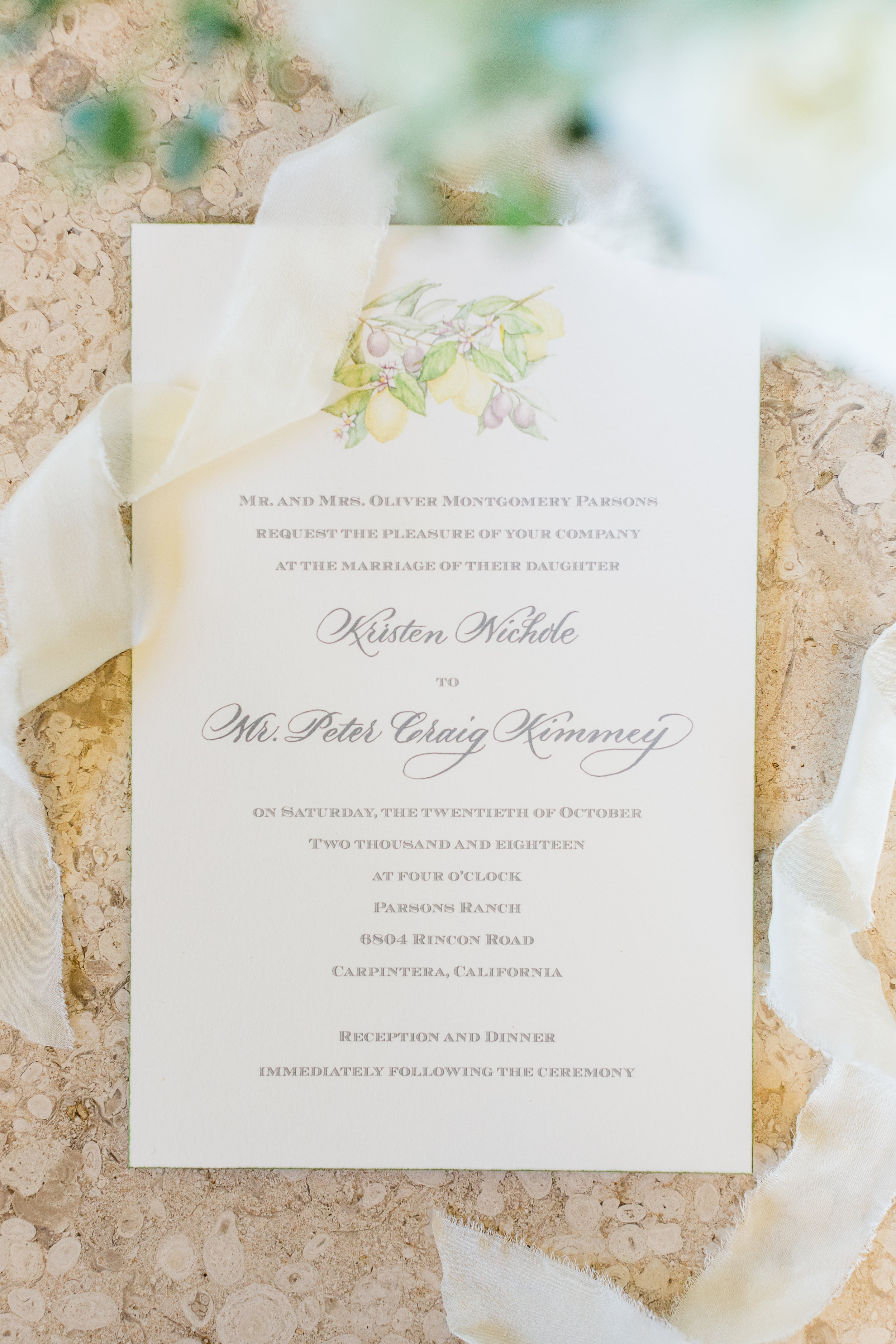 www.santabarbarawedding.com | Whitney Turner Photography | Parsons Ranch | Events by Rincon | Margaret Joan Florals | Wedding Invitations