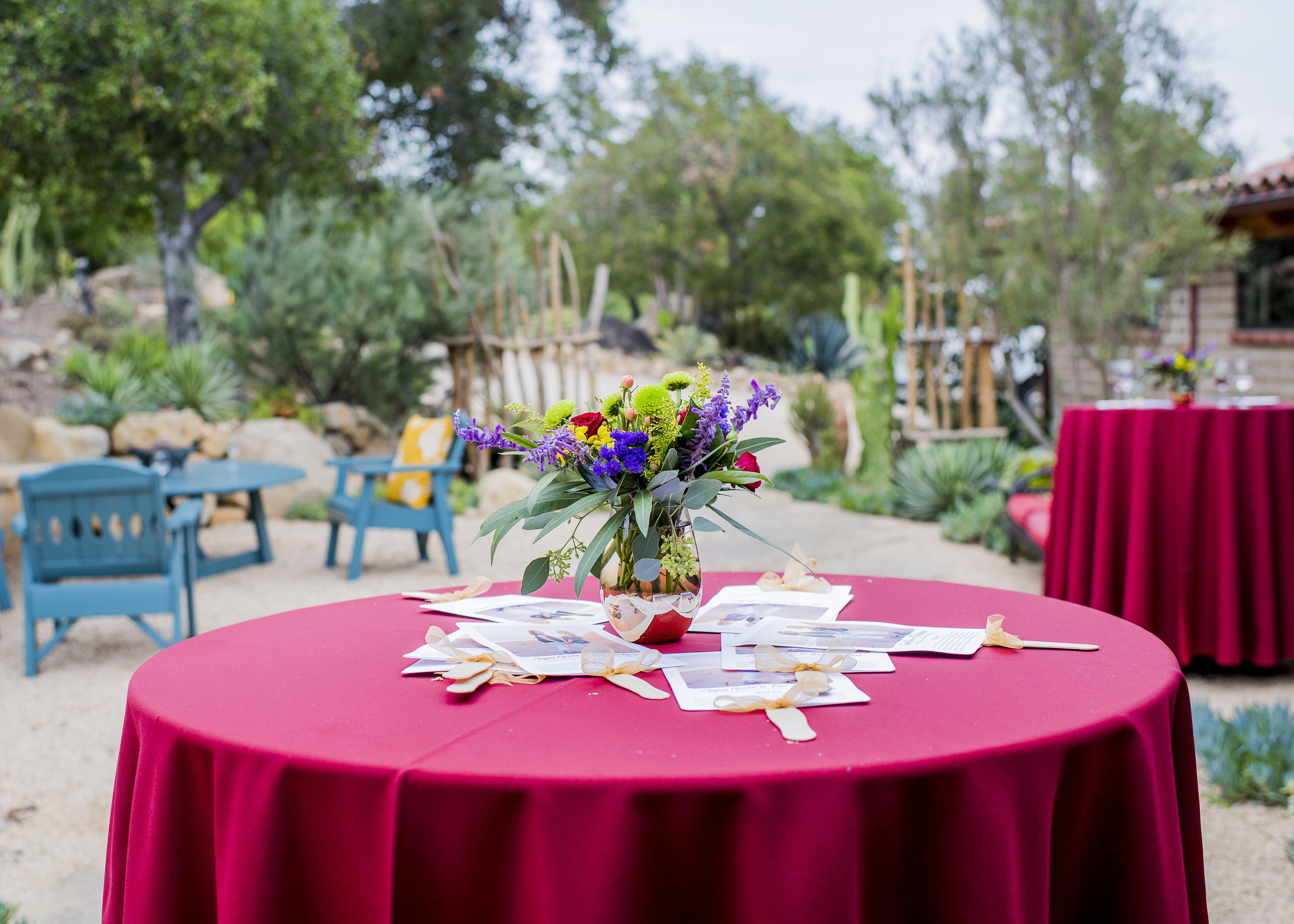 www.santabarbarawedding.com | Willa Kveta Photography | Private Estate | Savoir Faire | Reception Table with Flowers