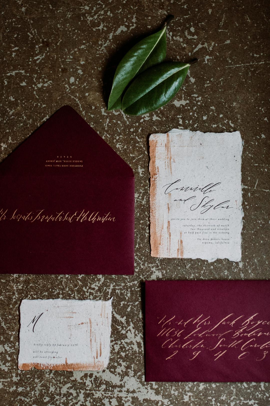 www.santabarbarawedding.com   Kacie Jones Photography   Dana Powers House   FM Events   Prairie and Sage   wedding invitations