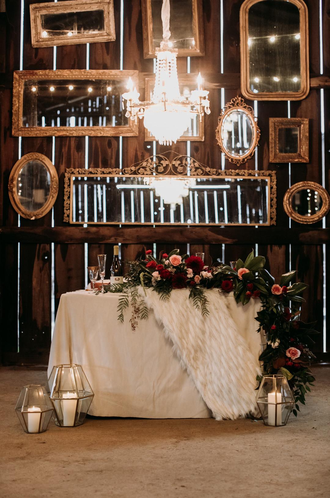 www.santabarbarawedding.com   Kacie Jones Photography   Dana Powers House   FM Events   Flourish   Blush Fine Linens   Embellish Vintage Rentals   All About Events   wedding head table
