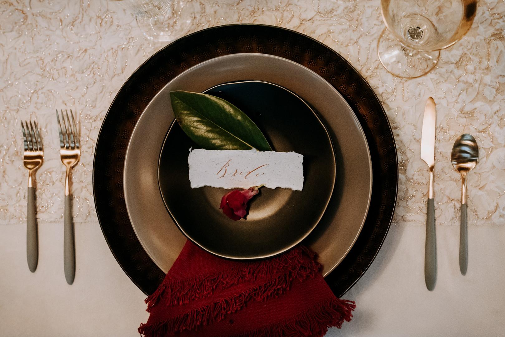www.santabarbarawedding.com   Kacie Jones Photography   Dana Powers House   FM Events   Flourish   Blush Fine Linens   Embellish Vintage Rentals   All About Events   wedding table setting
