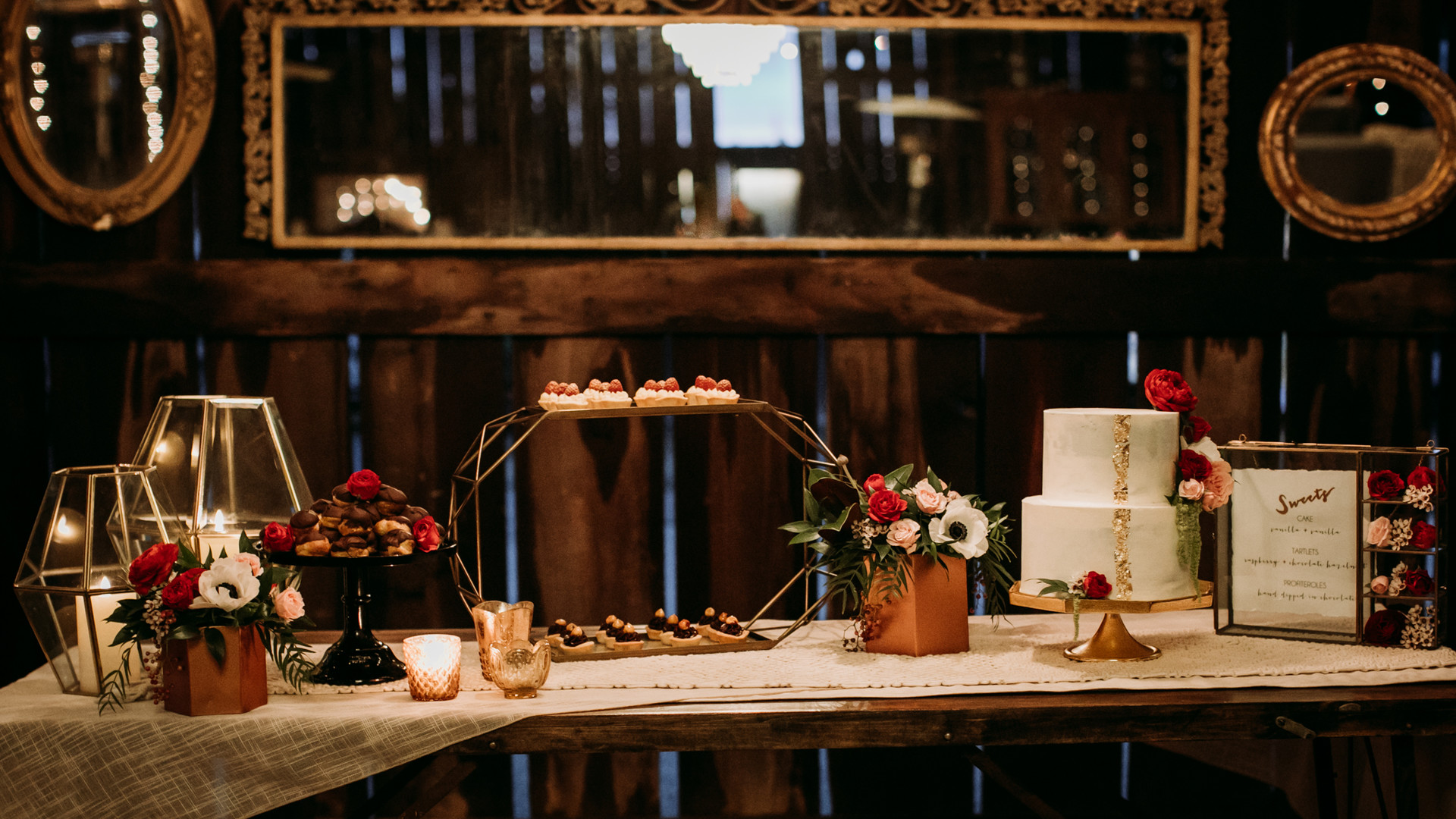 www.santabarbarawedding.com   Kacie Jones Photography   Dana Powers House   FM Events   S&O Dessert Co   Flourish   Blush Fine Linens   Embellish Vintage Rentals   All About Events   dessert table