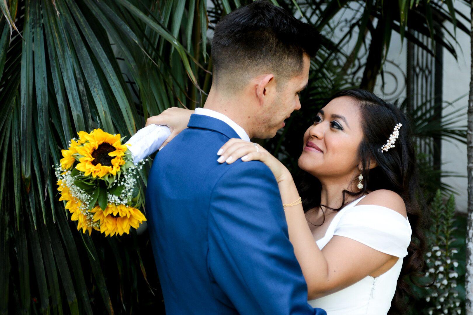 www.santabarbaraweddings.com | Photographer: Trista Maja Photography | Venue: Santa Barbara Courthouse | Wedding Dress: Lulus | Hair: Legends Hair | Bride and Groom Loving Gaze