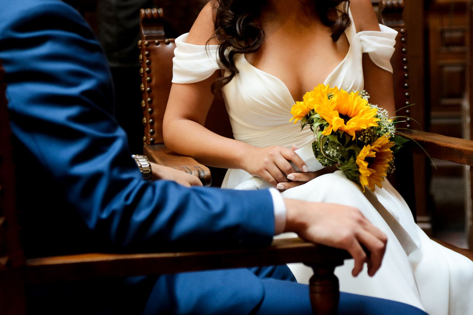 www.santabarbaraweddings.com | Photographer: Trista Maja Photography | Venue: Santa Barbara Courthouse | Wedding Dress: Lulus | Hair: Legends Hair | Couple Clothing and Bridal Bouquet