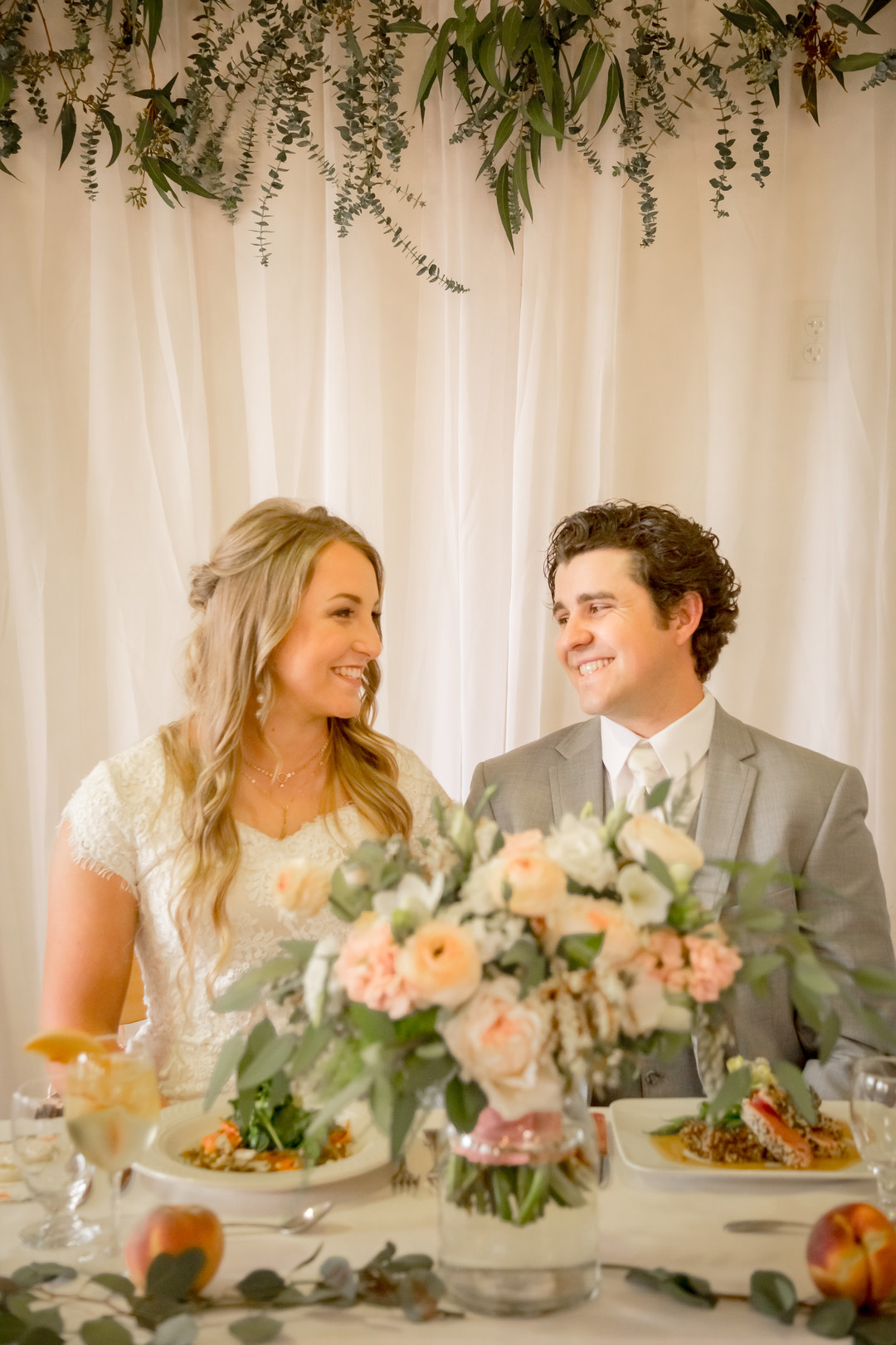 www.santabarbarawedding.com | SLO Town Studios | Black Lake Golf Course | Flowers by Denise | Hey Gorgeous Formal Wear | Bellizzimo Beauty | Perfect Peach Sunless Glow | wedding reception