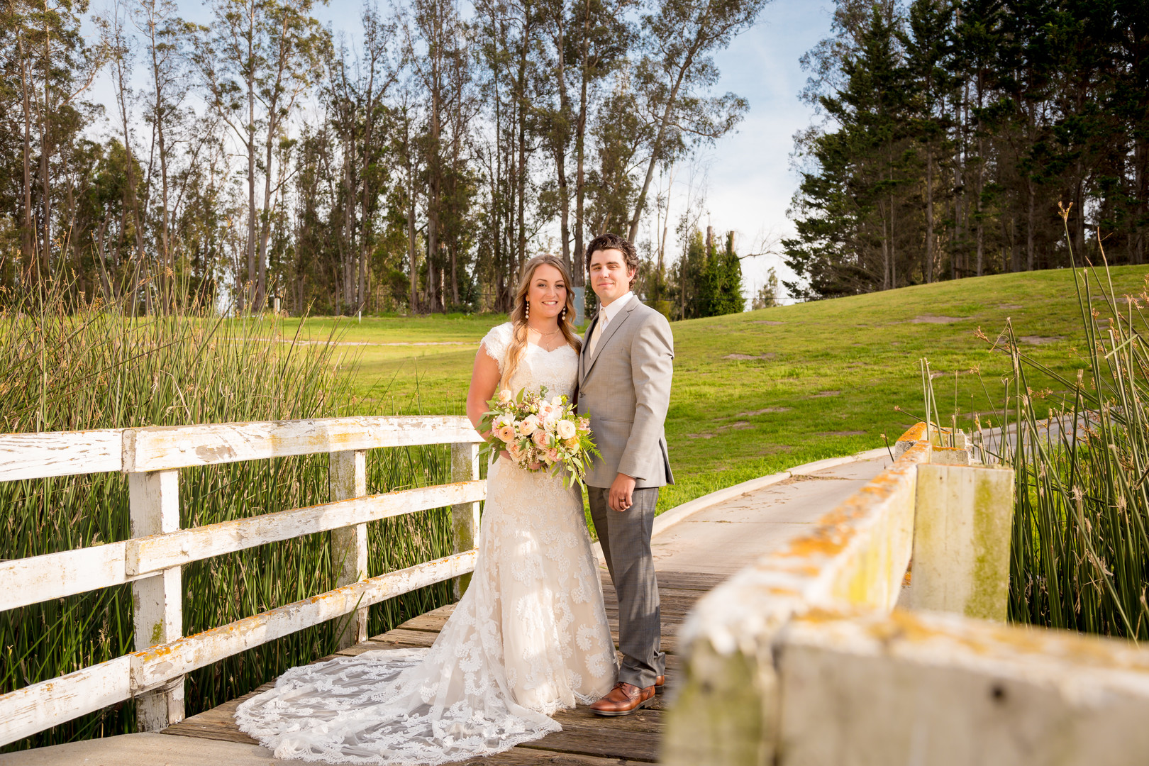 www.santabarbarawedding.com | SLO Town Studios | Black Lake Golf Course | Flowers by Denise | Hey Gorgeous Formal Wear | Bellizzimo Beauty | Perfect Peach Sunless Glow | bride and groom
