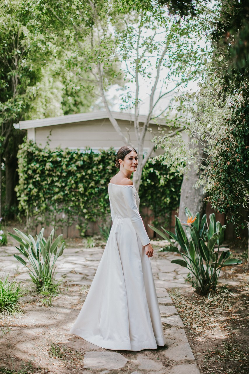 www.santabarbarawedding.com | WildWhim Design + Photography | Santa Barbara Historical Museum | Ann Johnson Events | Emilia Wickstead | Dior | Brianna of Studio B | Bride Before Ceremony
