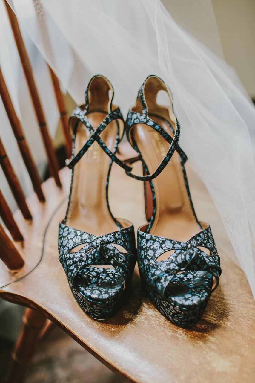 www.santabarbarawedding.com | WildWhim Design + Photography | Our Lady of Mount Carmel | Ann Johnson Events | Aquazzura | Bride's Shoes