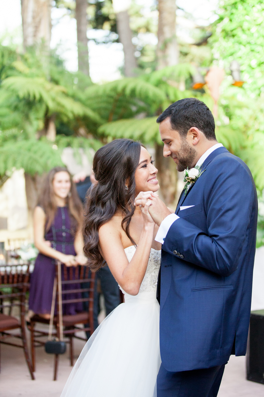 www.santabarbarawedding.com | Michael + Anna Costa Photography | Butterfly Lane Estate | Soigne Productions | West Coast Music | Bride and Groom Share a Dance