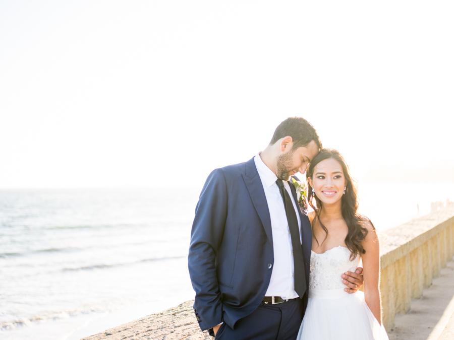 www.santabarbarawedding.com | Michael + Anna Costa Photography | Butterfly Lane Estate | Soigne Productions | Santa Barbara Trolley | Bride and Groom Beach Photoshoot