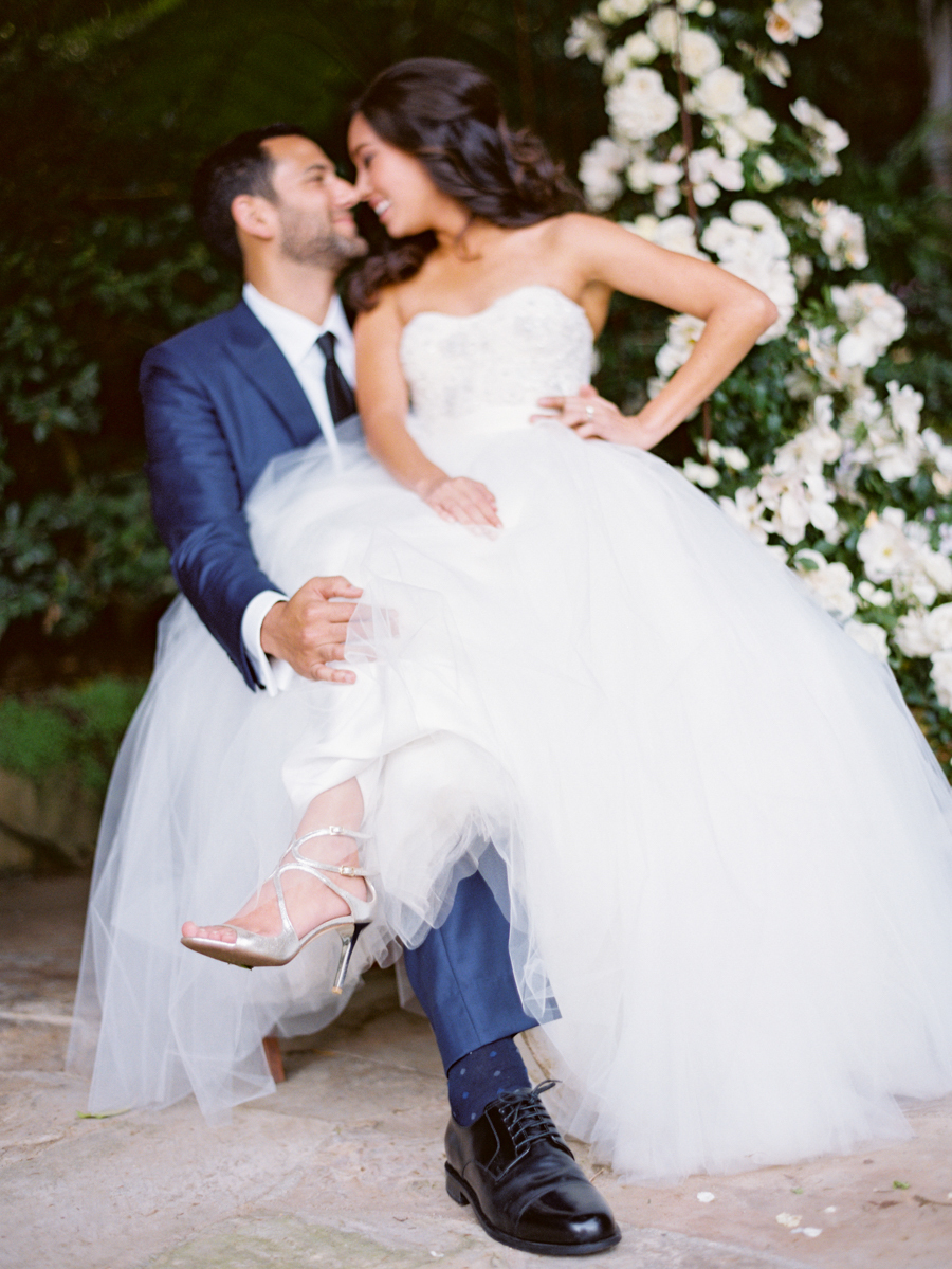 www.santabarbarawedding.com | Michael + Anna Costa Photography | Butterfly Lane Estate | Soigne Productions | Monique L'Huillier | Johnathon Behr Bespoke Clothiers | Bride and Groom Share a Moment