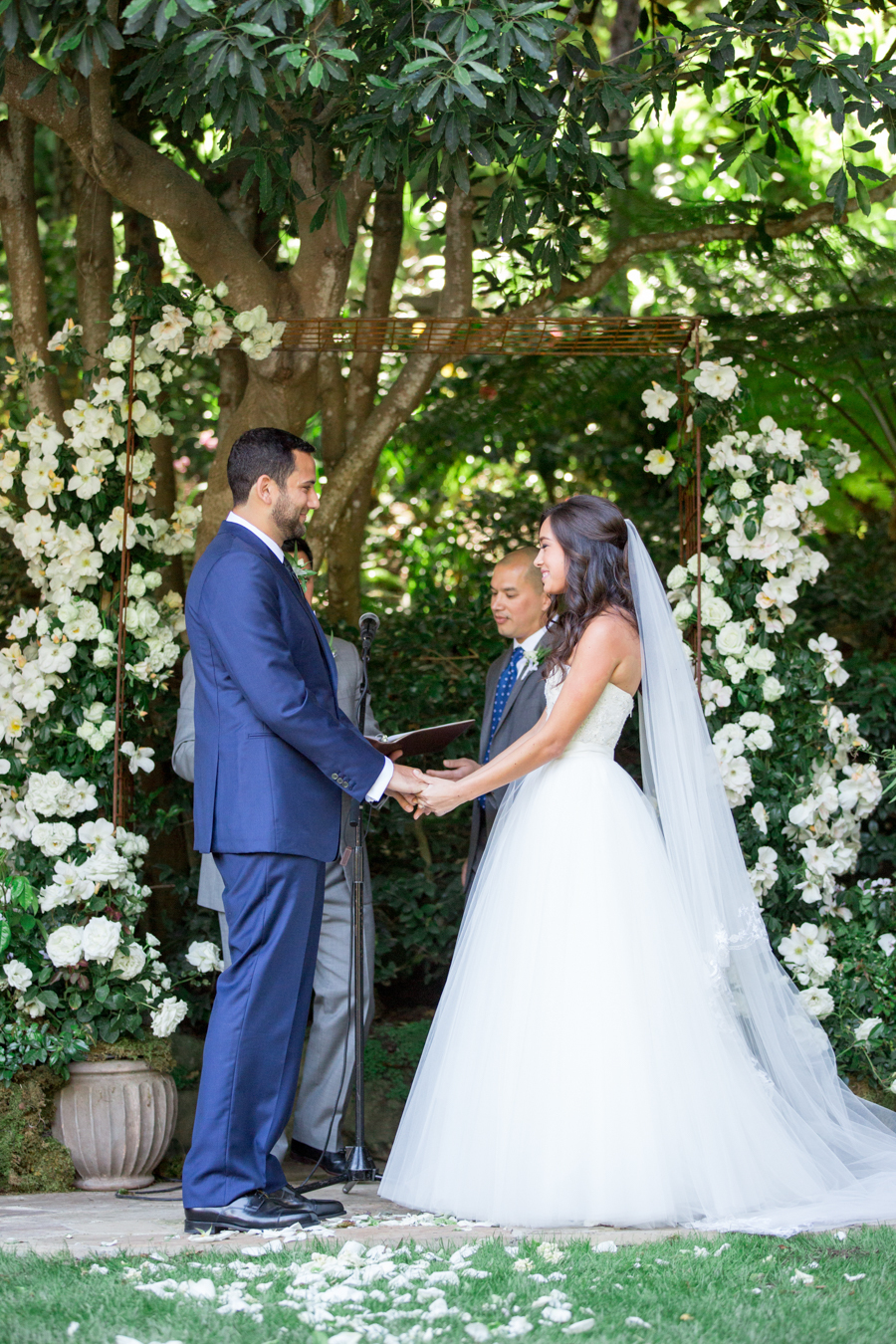 www.santabarbarawedding.com | Michael + Anna Costa Photography | Butterfly Lane Estate | Soigne Productions | Tricia Fountaine Designs | The Get Down Boys | Lovespun Films | Couple at Ceremony