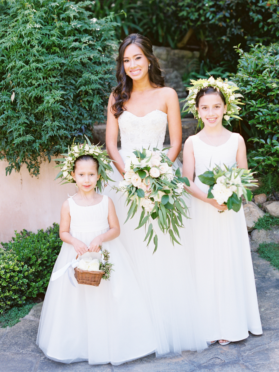 www.santabarbarawedding.com | Michael + Anna Costa Photography | Butterfly Lane Estate | Soigne Productions | Monique L'Huillier | Tricia Fountaine Designs | Bride and Flower Girls
