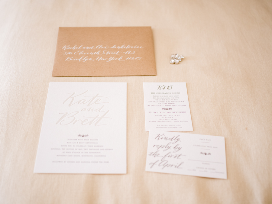 www.santabarbarawedding.com | Michael + Anna Costa Photography | Butterfly Lane Estate | Soigne Productions | Kathleen Cooper Fine Papers | Wedding Invitations