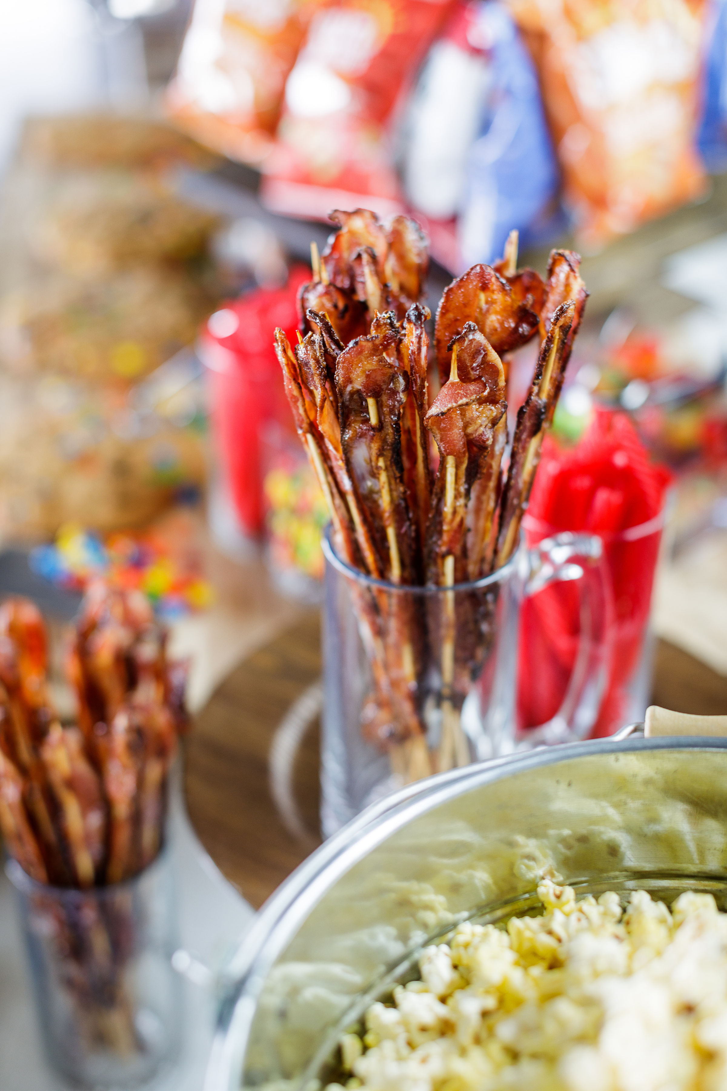 www.santabarbarawedding.com | Kiel Rucker Photography | Creative Services Catering | The Ocean View Farm | Maple-Glazed Bacon Snack Sticks