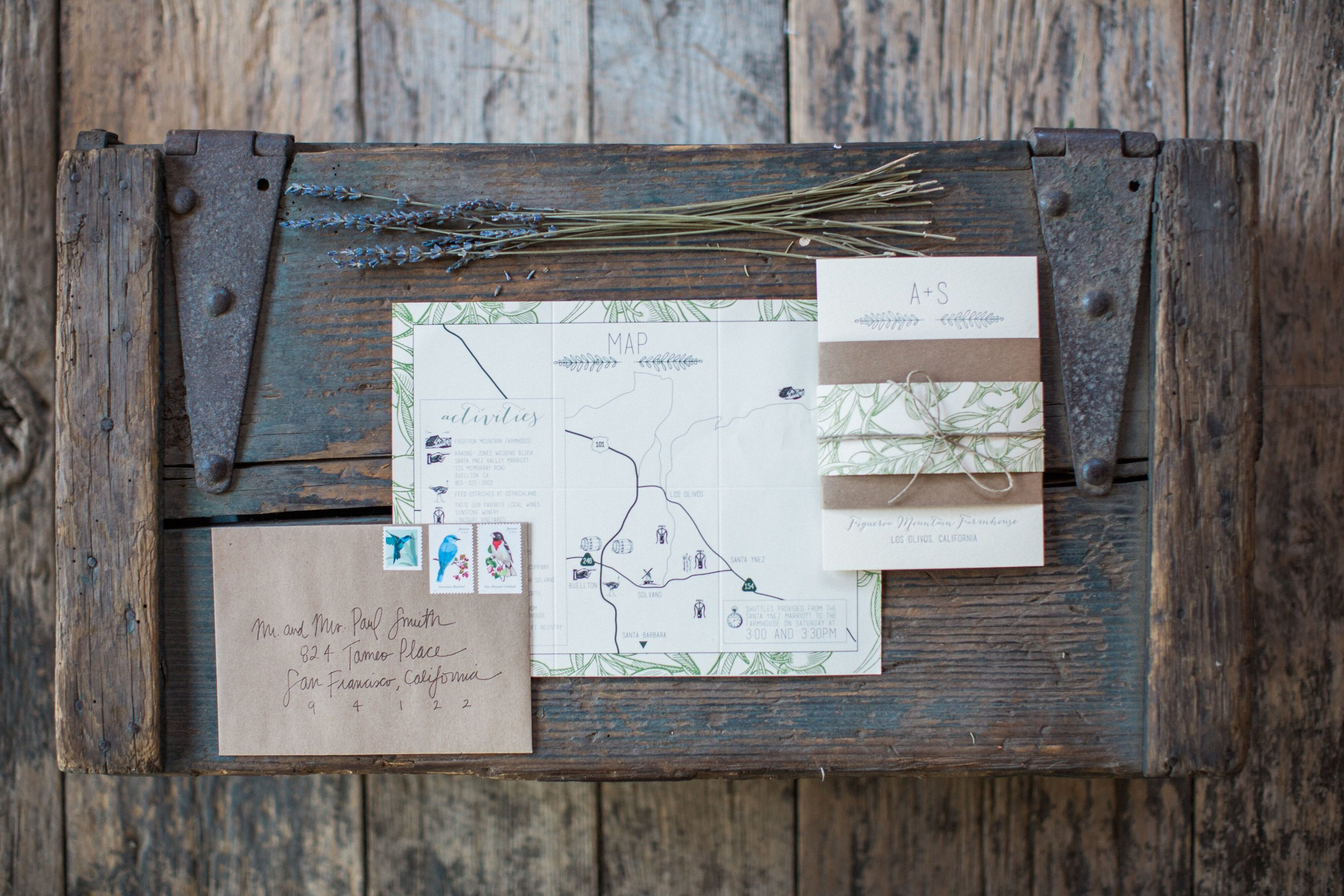 www.santabarbarawedding.com | Kiel Rucker Photography | Joelle Charming Wedding Planner | Figueroa Mountain Farmhouse | Wedding Invitations