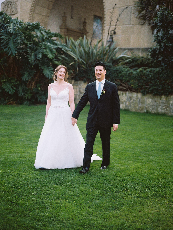 www.santabarbawedding.com | Venue: Santa Barbara Courthouse | Photography: Ryanne Bee Photography | Officiant: Santa Barbara Classic Weddings | Bride and Groom Hand-in-Hand