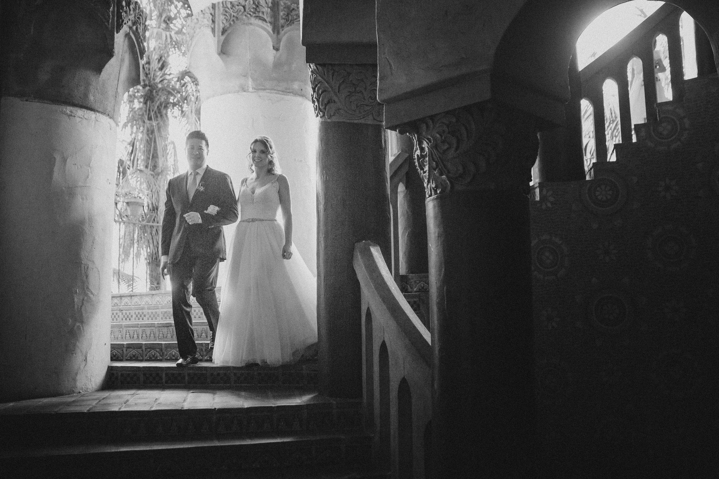 www.santabarbawedding.com | Venue: Santa Barbara Courthouse | Photography: Ryanne Bee Photography | Officiant: Santa Barbara Classic Weddings | Bride and Groom in Venue