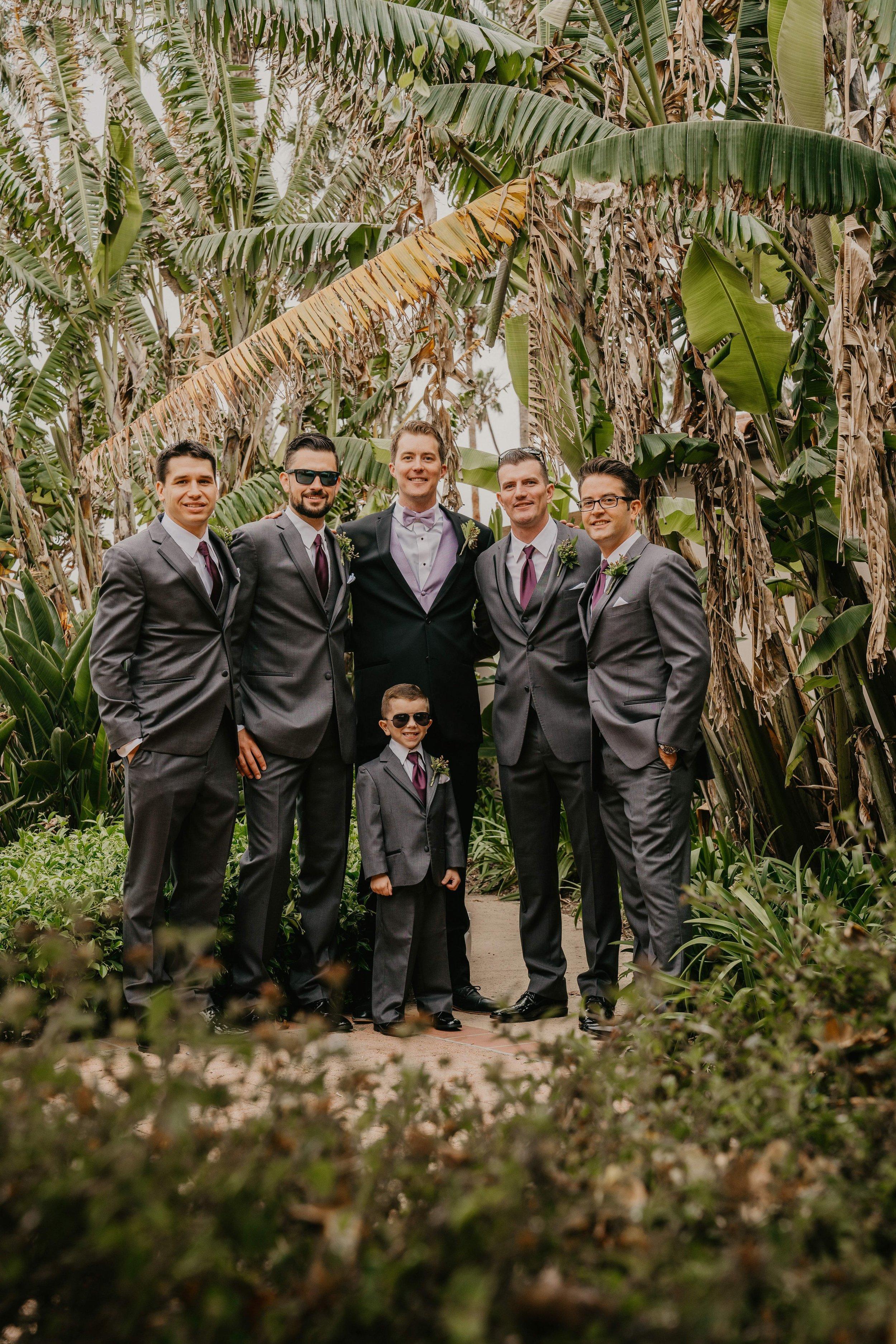 www.santabarbarawedding.com | Candice Marie Photography | Hilton Santa Barbara Beachfront Resort | Dalina Klan | Once in a Lifetime Weddings | Alpha Floral | Groom and Groomsmen