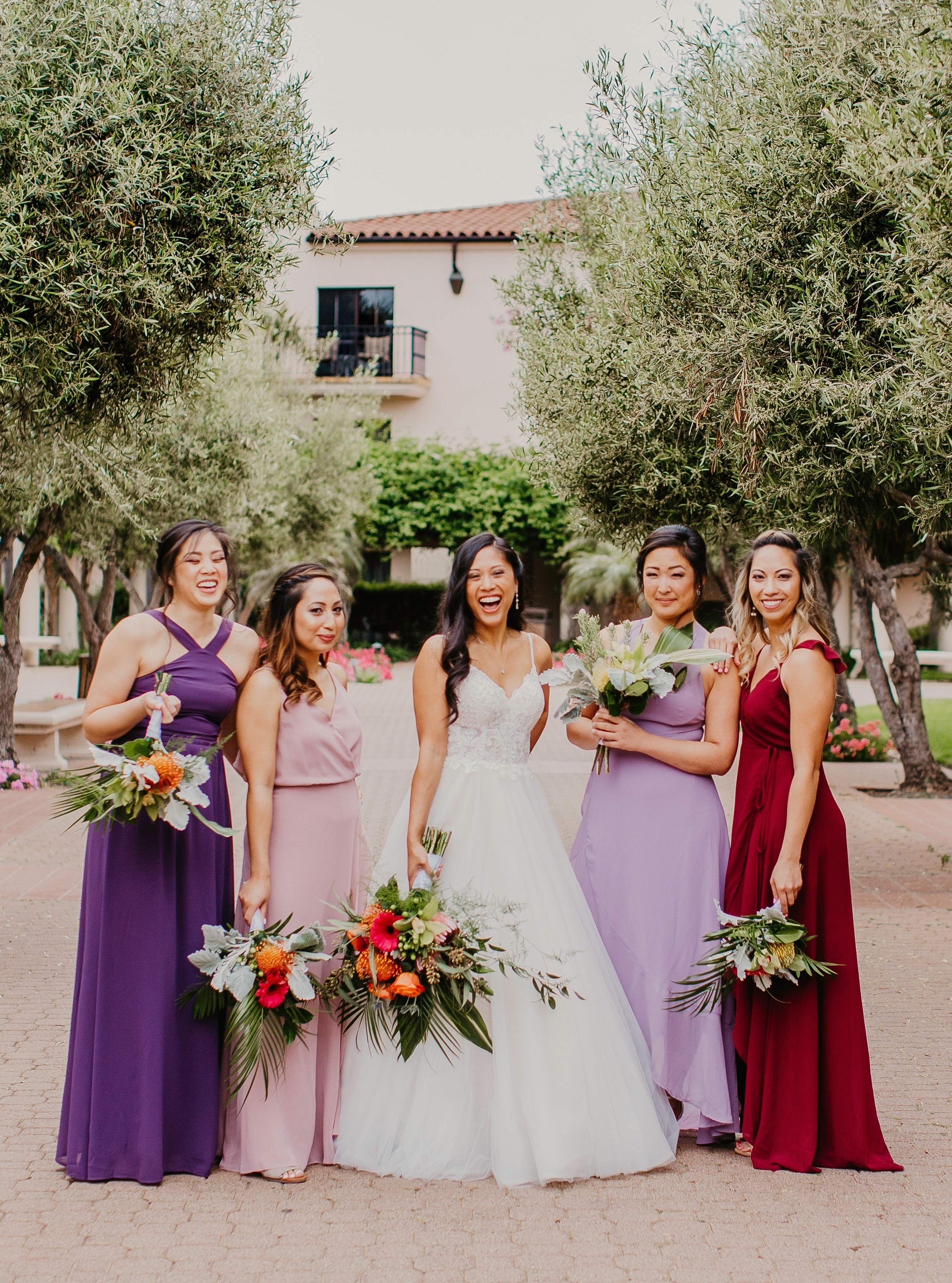 www.santabarbarawedding.com | Candice Marie Photography | Hilton Santa Barbara Beachfront Resort | Once in a Lifetime Weddings | Alpha Floral | Absolutely Fabulous Glamour | Bride and Bridesmaids