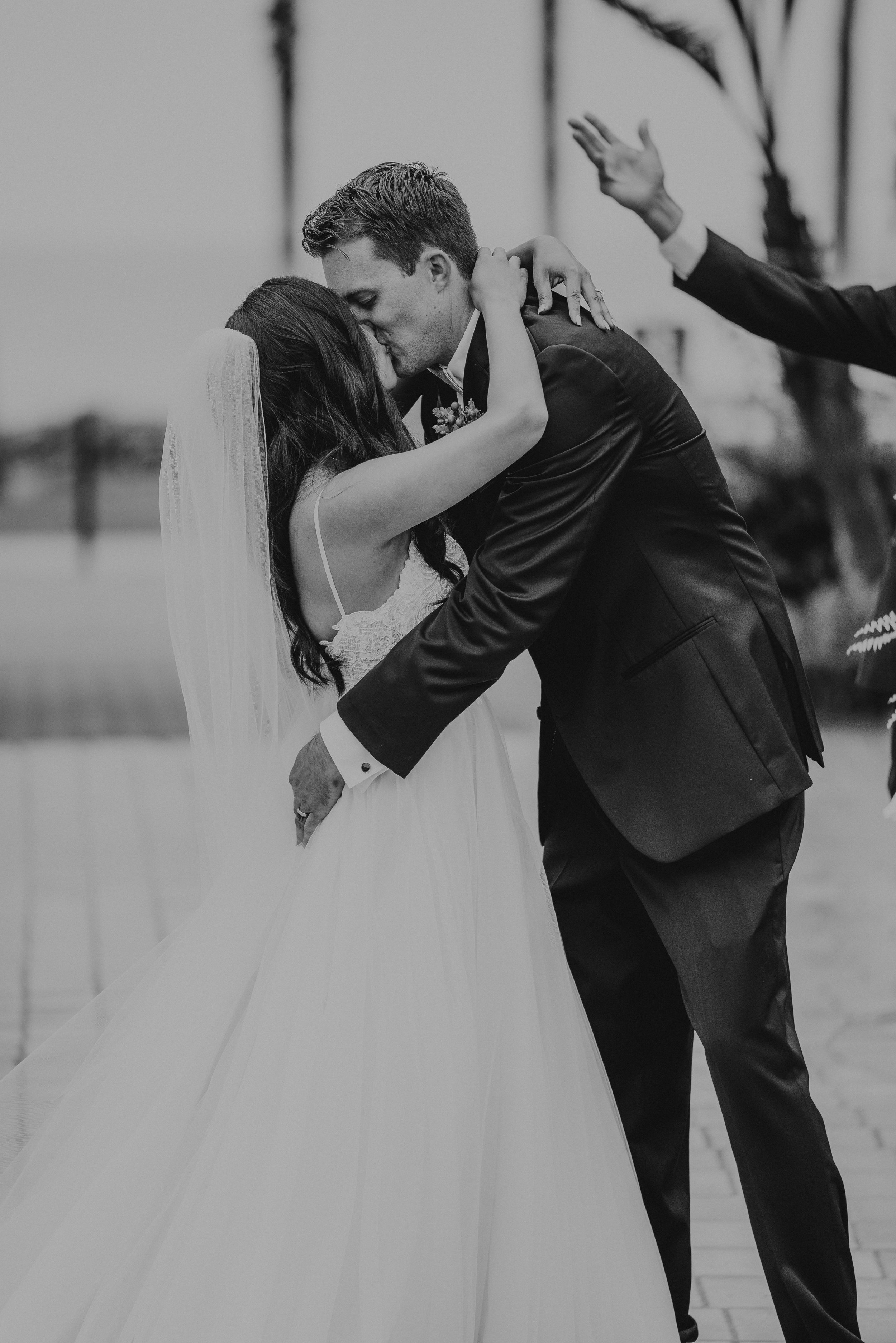 www.santabarbarawedding.com | Candice Marie Photography | Hilton Santa Barbara Beachfront Resort | Dalina Klan | Once in a Lifetime Weddings | Anthony Francisco | Bride and Groom First Kiss