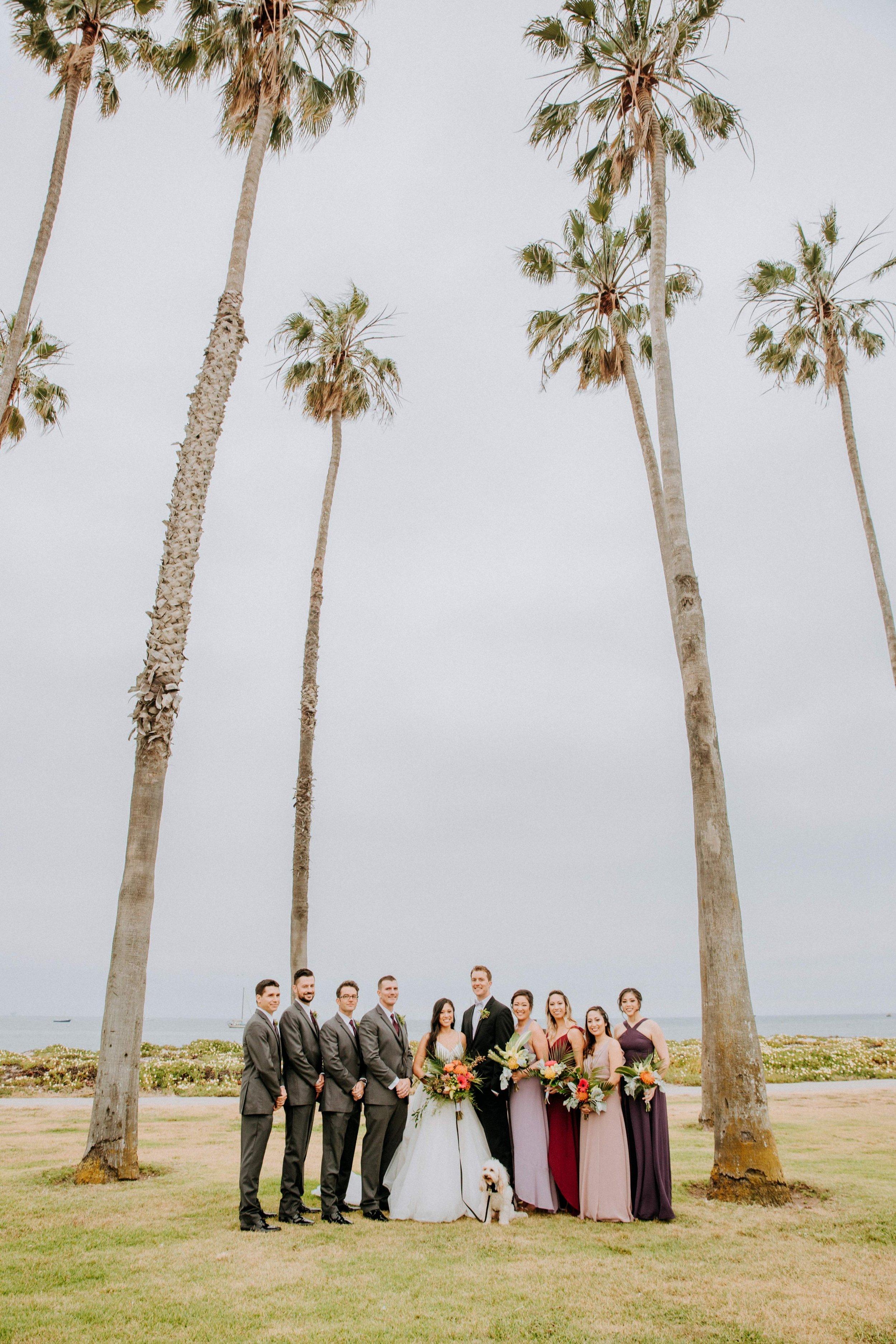 www.santabarbarawedding.com | Candice Marie Photography | Hilton Santa Barbara Beachfront Resort | Dalina Klan | Once in a Lifetime Weddings | Alpha Floral | Bridal Party by the Beach