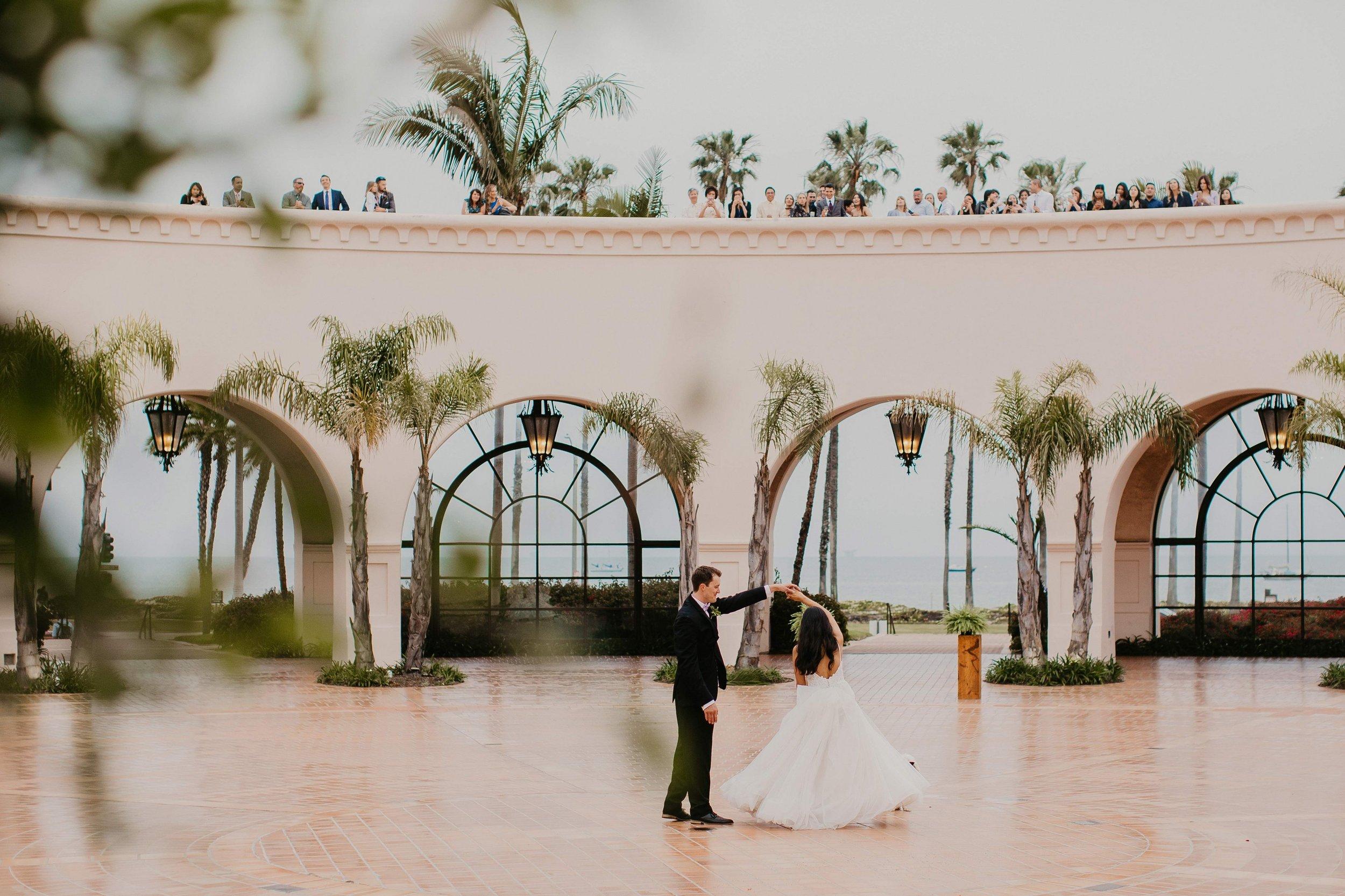 www.santabarbarawedding.com | Candice Marie Photography | Hilton Santa Barbara Beachfront Resort | Dalina Klan | Once in a Lifetime Weddings | DJ Ras | Bride and Groom Dancing