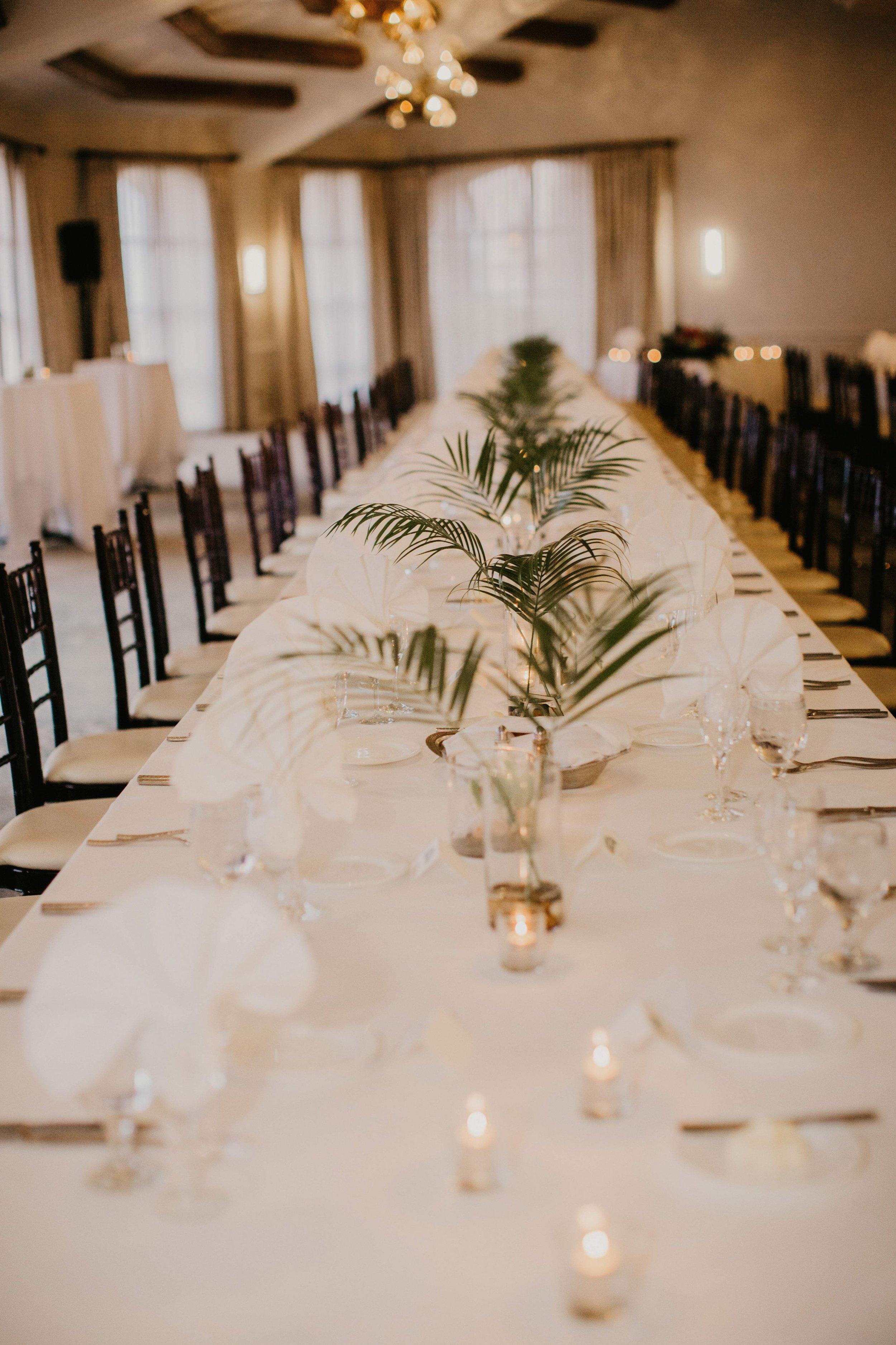 www.santabarbarawedding.com | Candice Marie Photography | Hilton Santa Barbara Beachfront Resort | Dalina Klan | Once in a Lifetime Weddings | Reception Tables
