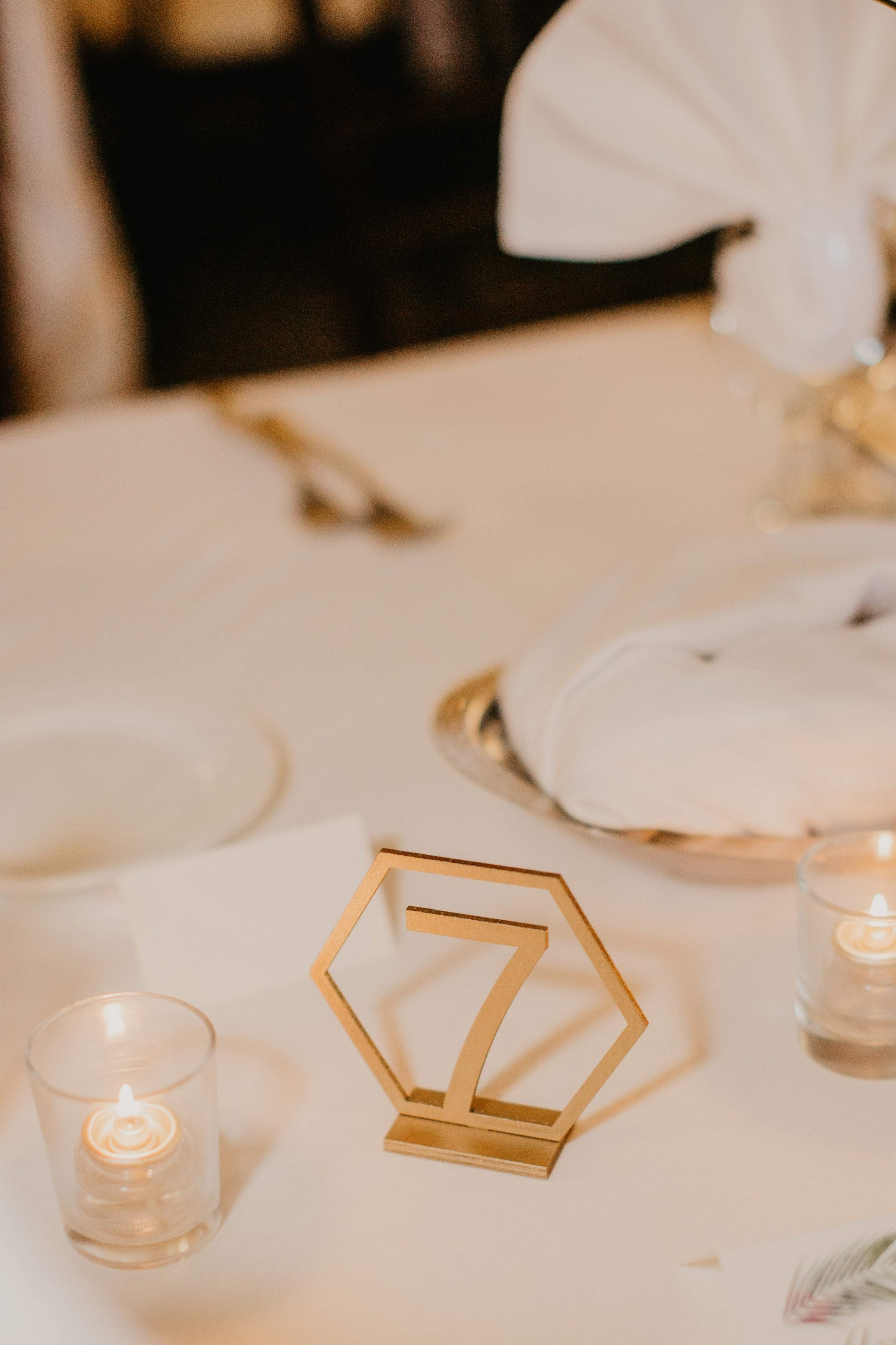 www.santabarbarawedding.com | Candice Marie Photography | Hilton Santa Barbara Beachfront Resort | Dalina Klan | Once in a Lifetime Weddings | Reception Table Numbers