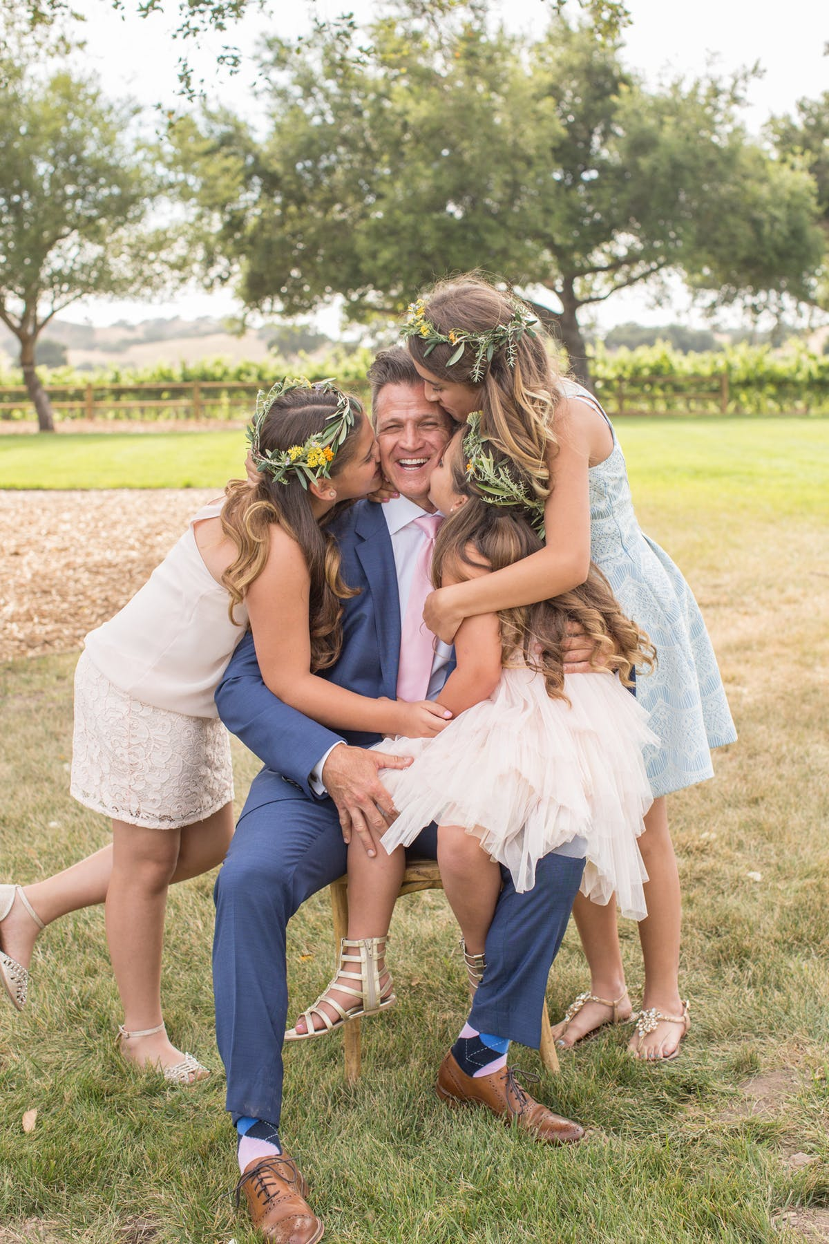 www.santabarbarawedding.com | Anna J Photography | Firestone Vineyard | Alegria by Design | Anna Le Pley Taylor | Groom and His Step-Daughters