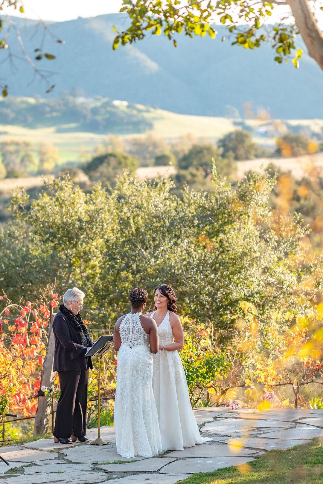 www.santabarbarawedding.com | Venue: The Casitas of Arroyo Grande | Photographer: Renoda Campbell Photography | Second Shooter: John Patrick Images |  Ceremony Wedding Vows