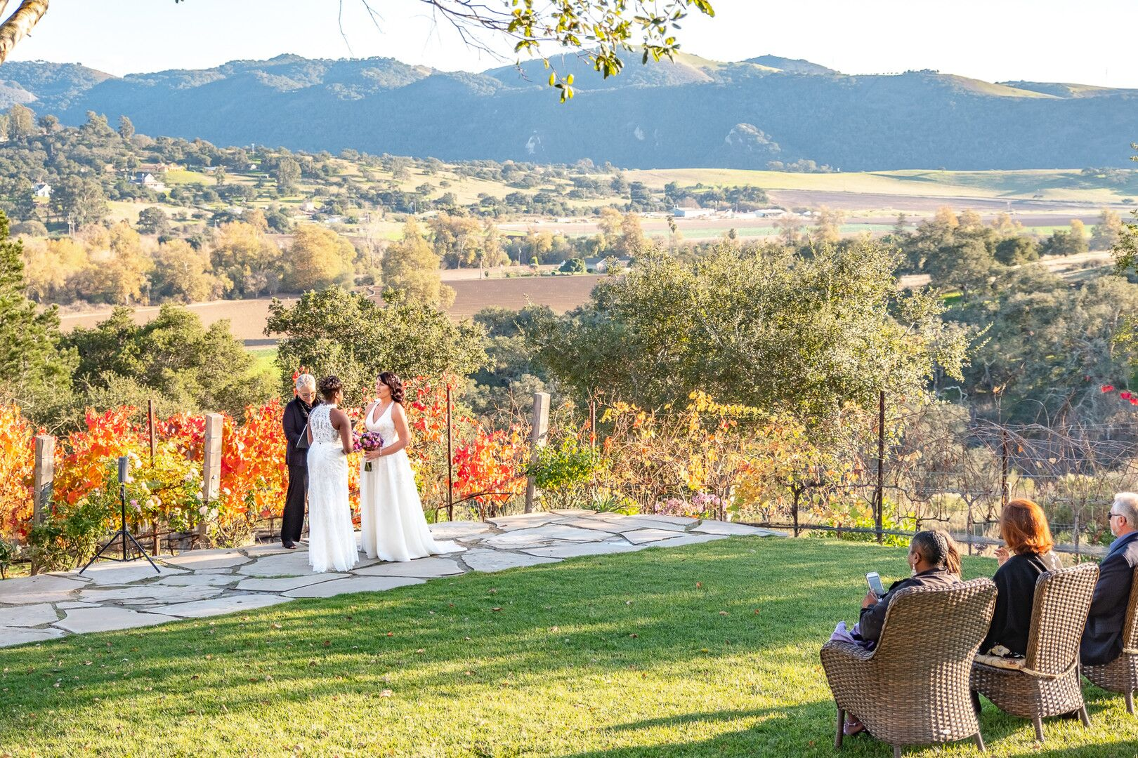 www.santabarbarawedding.com | Venue: The Casitas of Arroyo Grande | Photographer: Renoda Campbell Photography | Second Shooter: John Patrick Images |  Ceremony with Scenic View