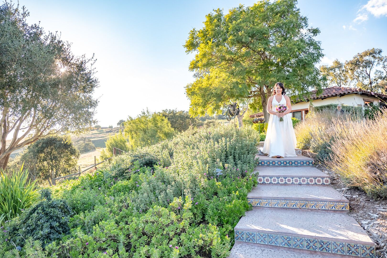 www.santabarbarawedding.com | Venue: The Casitas of Arroyo Grande | Photographer: Renoda Campbell Photography | Second Shooter: John Patrick Images |  Bride on Path