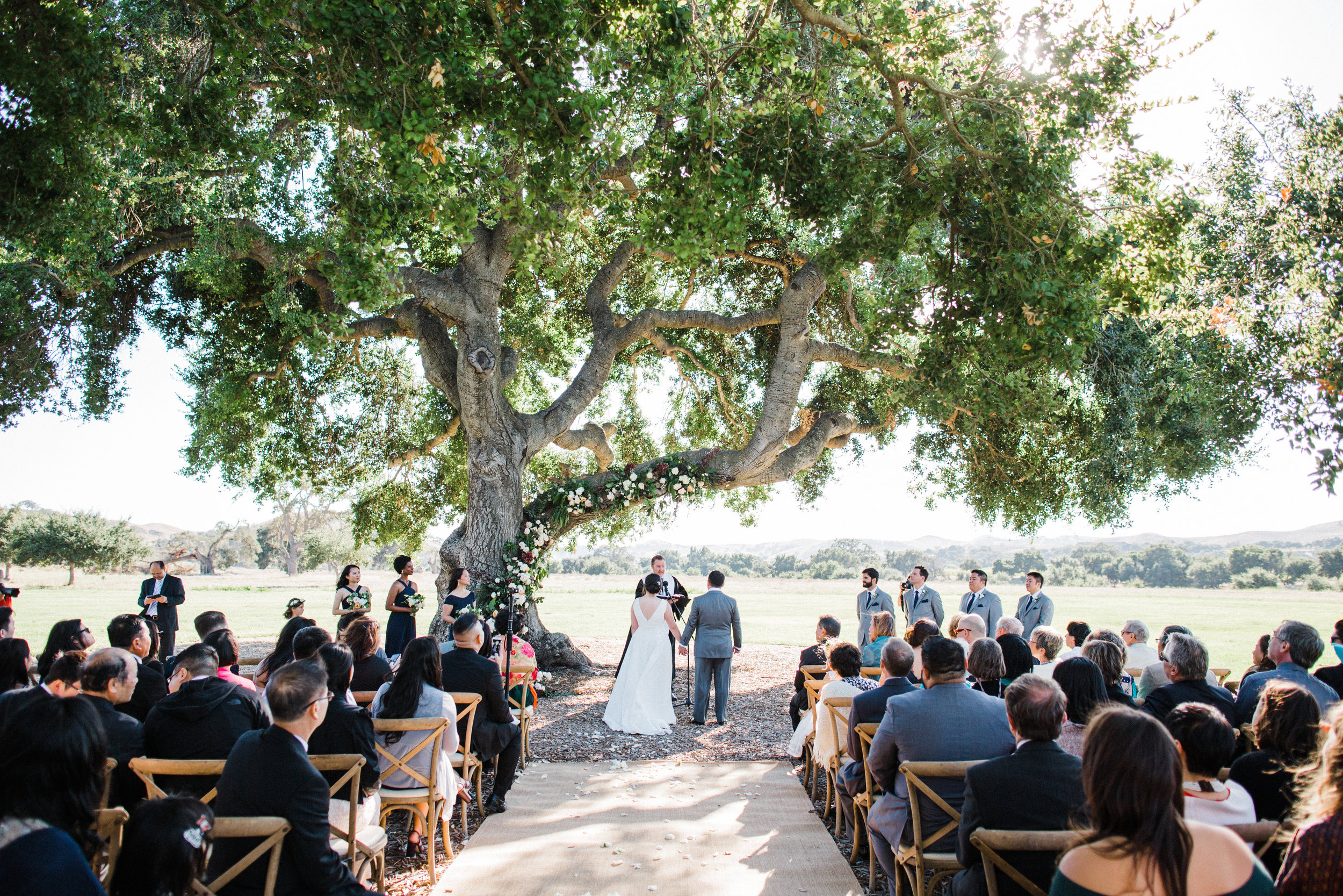 www.santabarbarawedding.com | Michael and Anna Costa | Crossroads Estate at Firestone Vineyard | Soleil Events | Anna Le Pley Taylor | Town and Country Event Rentals | outdoor wedding ceremony