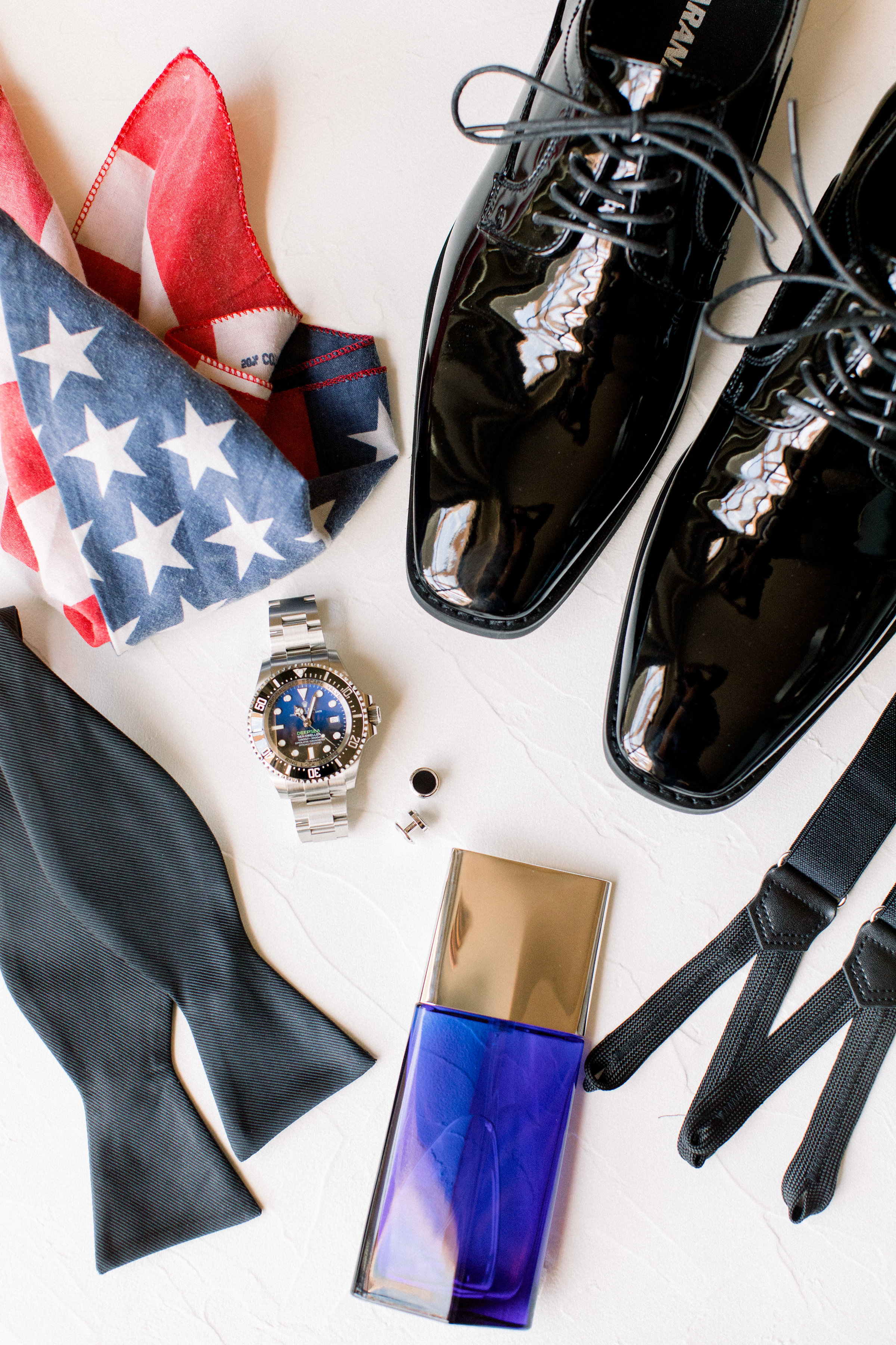 www.santabarbarawedding.com   Jenny Quicksall Photography   Santa Barbara Club   Bluebell Events   The Black Tux   Groom's Accessories and American Flag