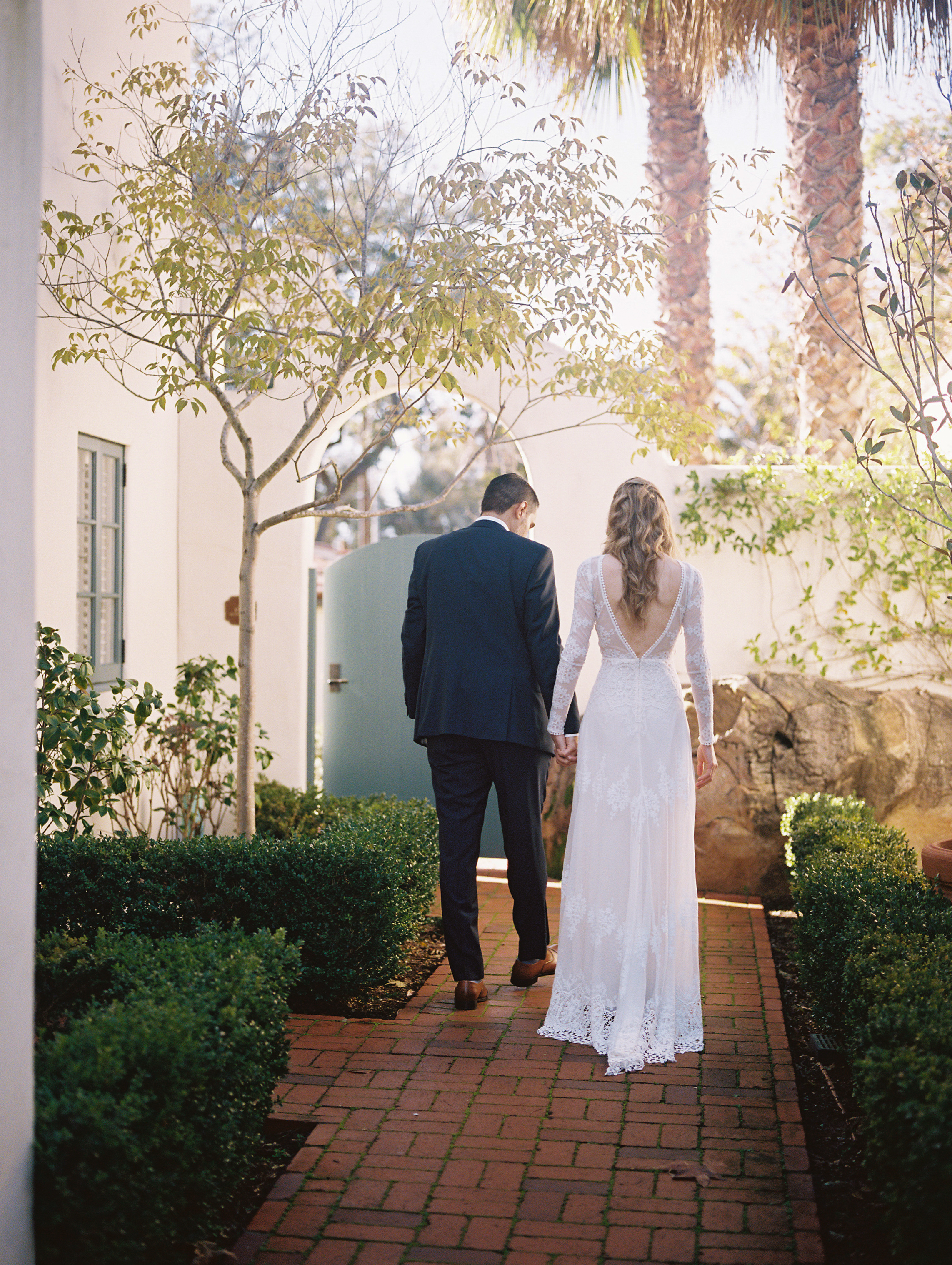 www.santabarbarawedding.com | Ryanne Bee Photography | Santa Barbara Courthouse | Belmond El Encanto | Dreamers and Lovers | Bride and Groom Before the Ceremony