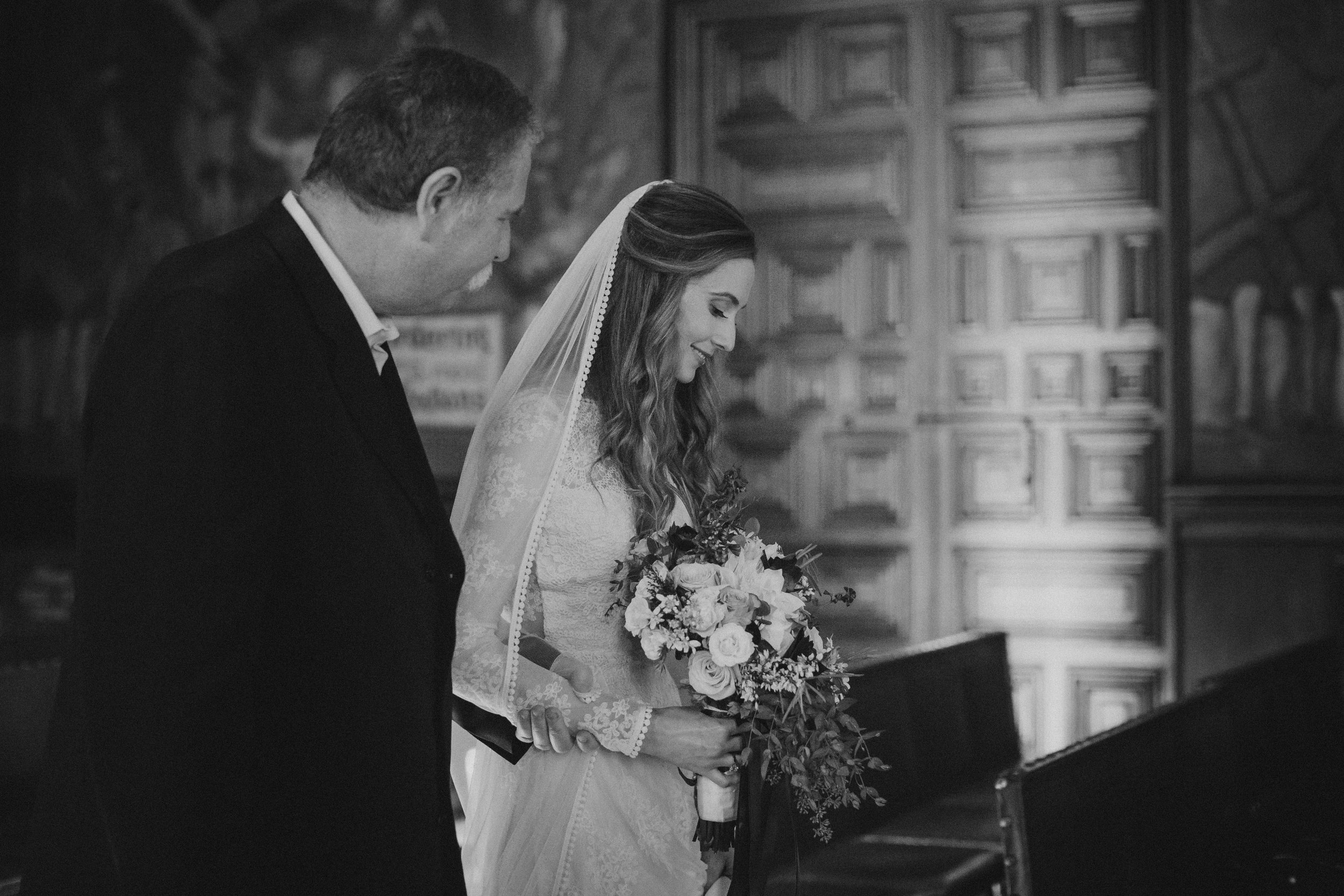 www.santabarbarawedding.com | Ryanne Bee Photography | Santa Barbara Courthouse | Dreamers and Lovers | TEAM Hair & Makeup | Father Walks Bride Down the Aisle