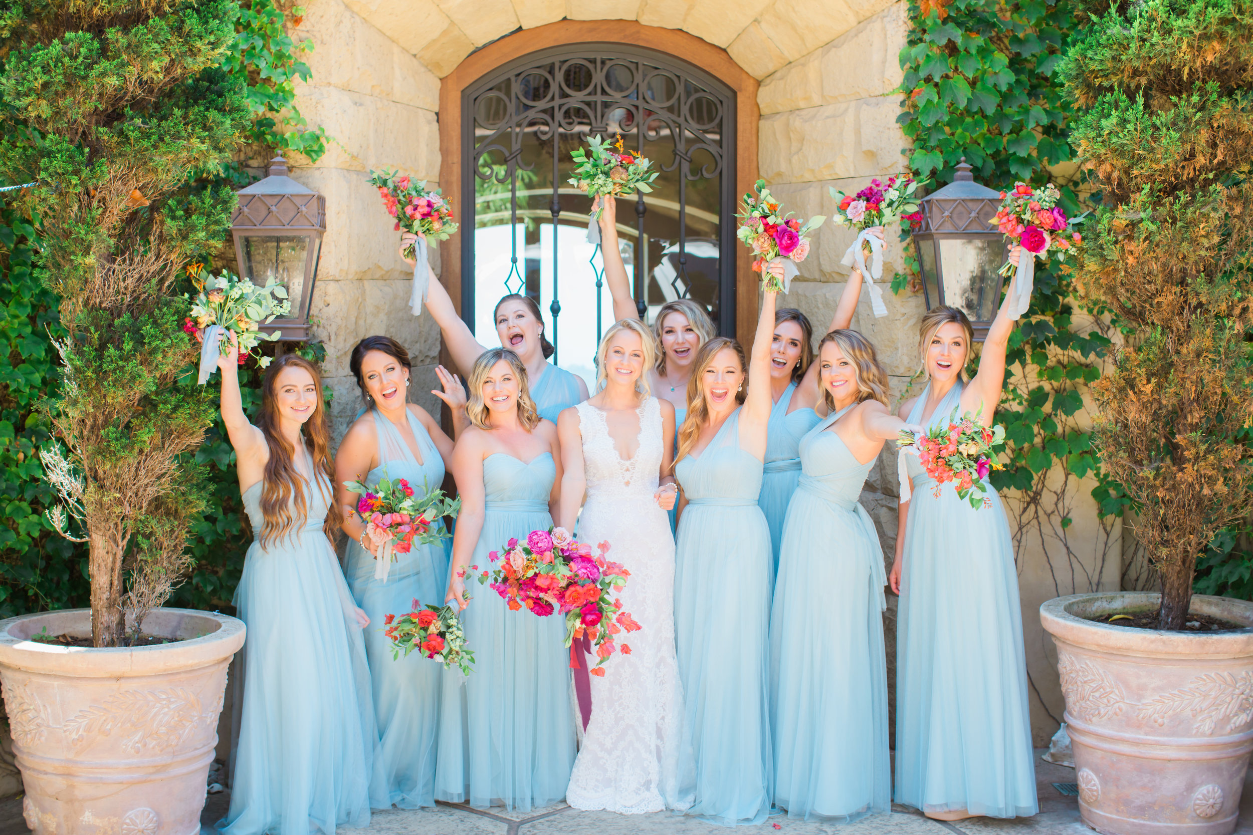 www.santabarbarawedding.com | James and Jess Photography | Our Lady of Mount Carmel | Amazing Day Events | TEAM Hair & Makeup | Double Take | La Fleur du Jour | Bride and Bridesmaids