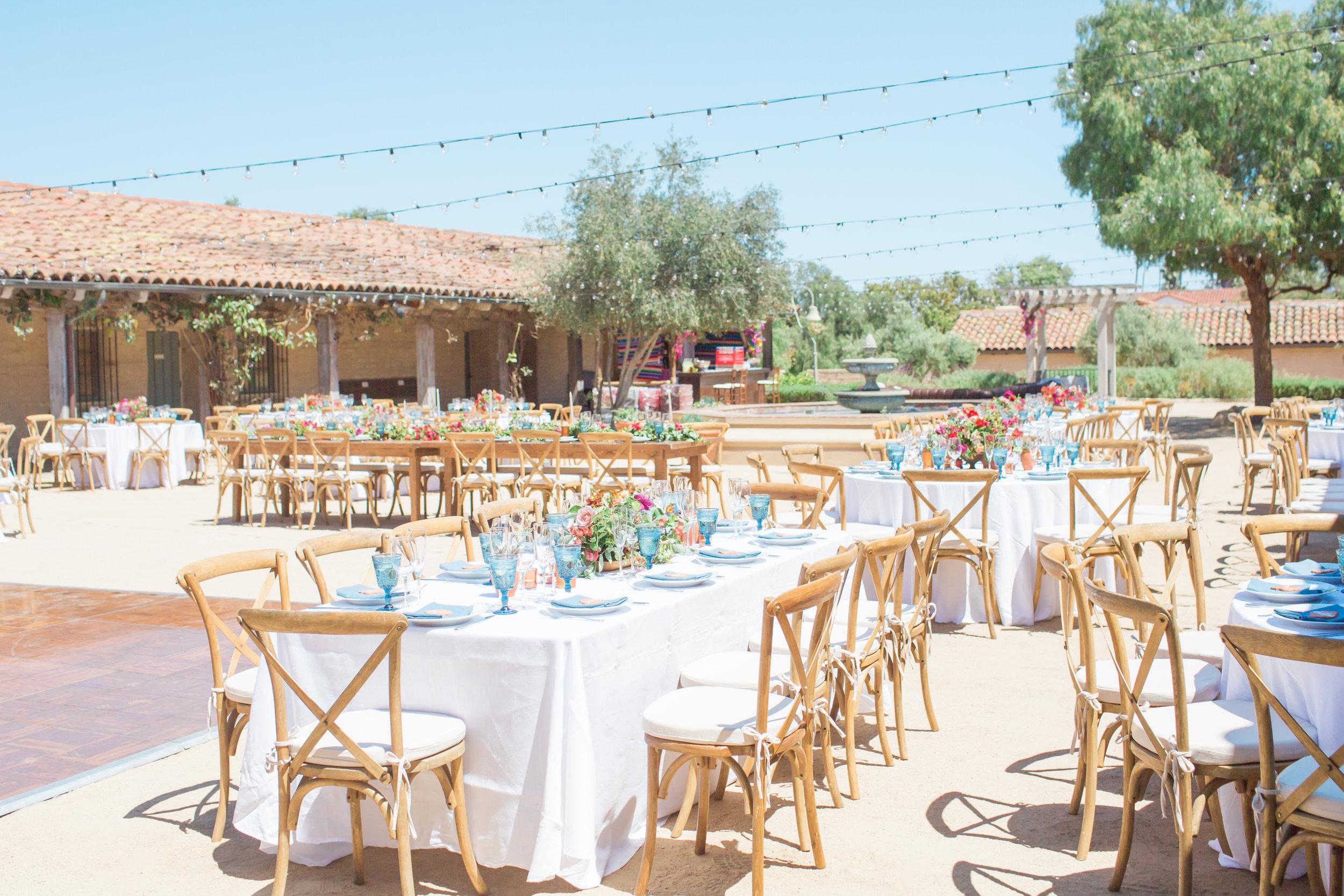 www.santabarbarawedding.com | James and Jess Photography | Santa Barbara Historical | Amazing Day Events | La Fleur du Jour | La Tavola | Classic Party Rentals | Reception Tables
