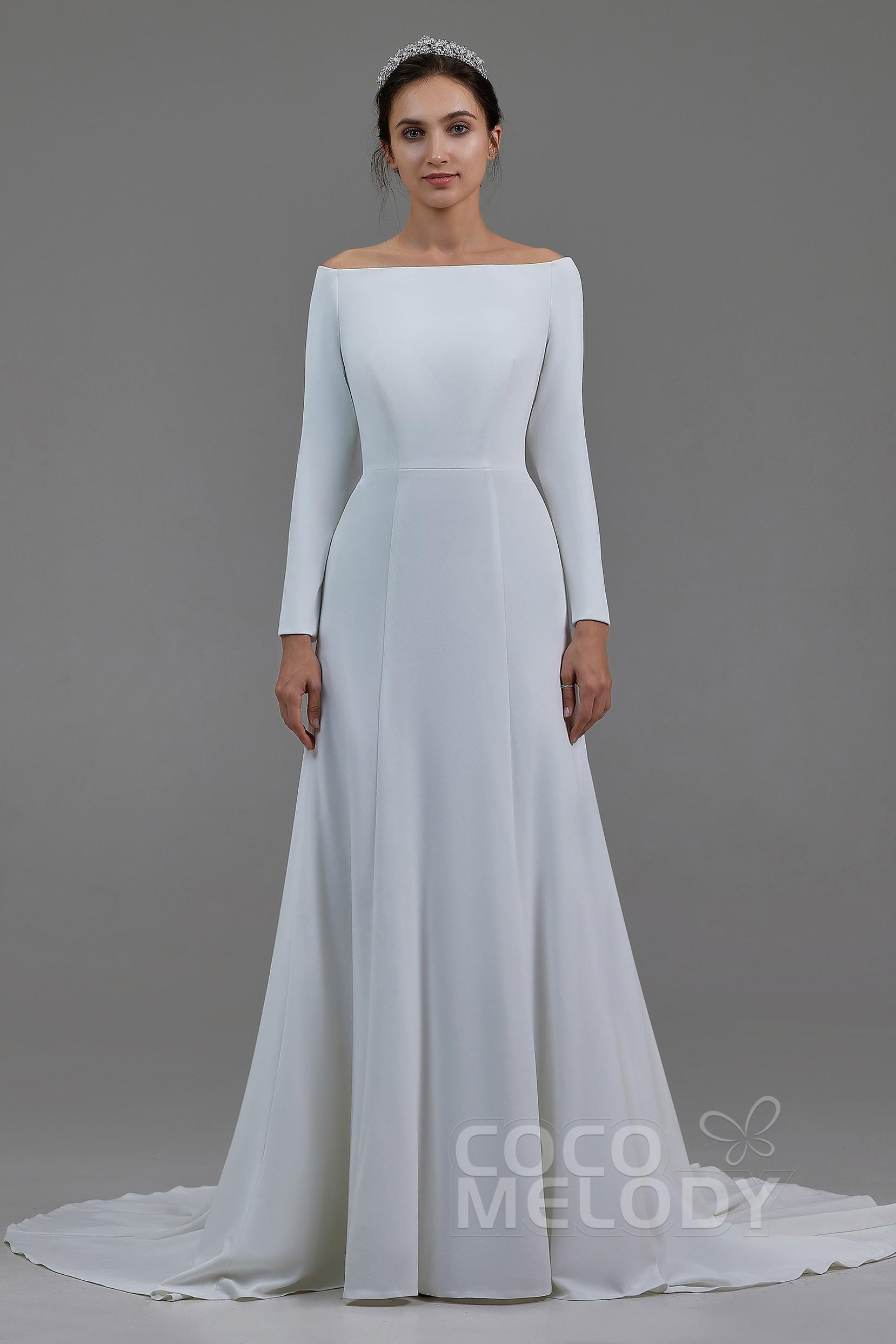 wwww.santabarbarawedding.com | COCOMELODY | Mermaid Chapel Train Knitted Fabric Wedding Dress