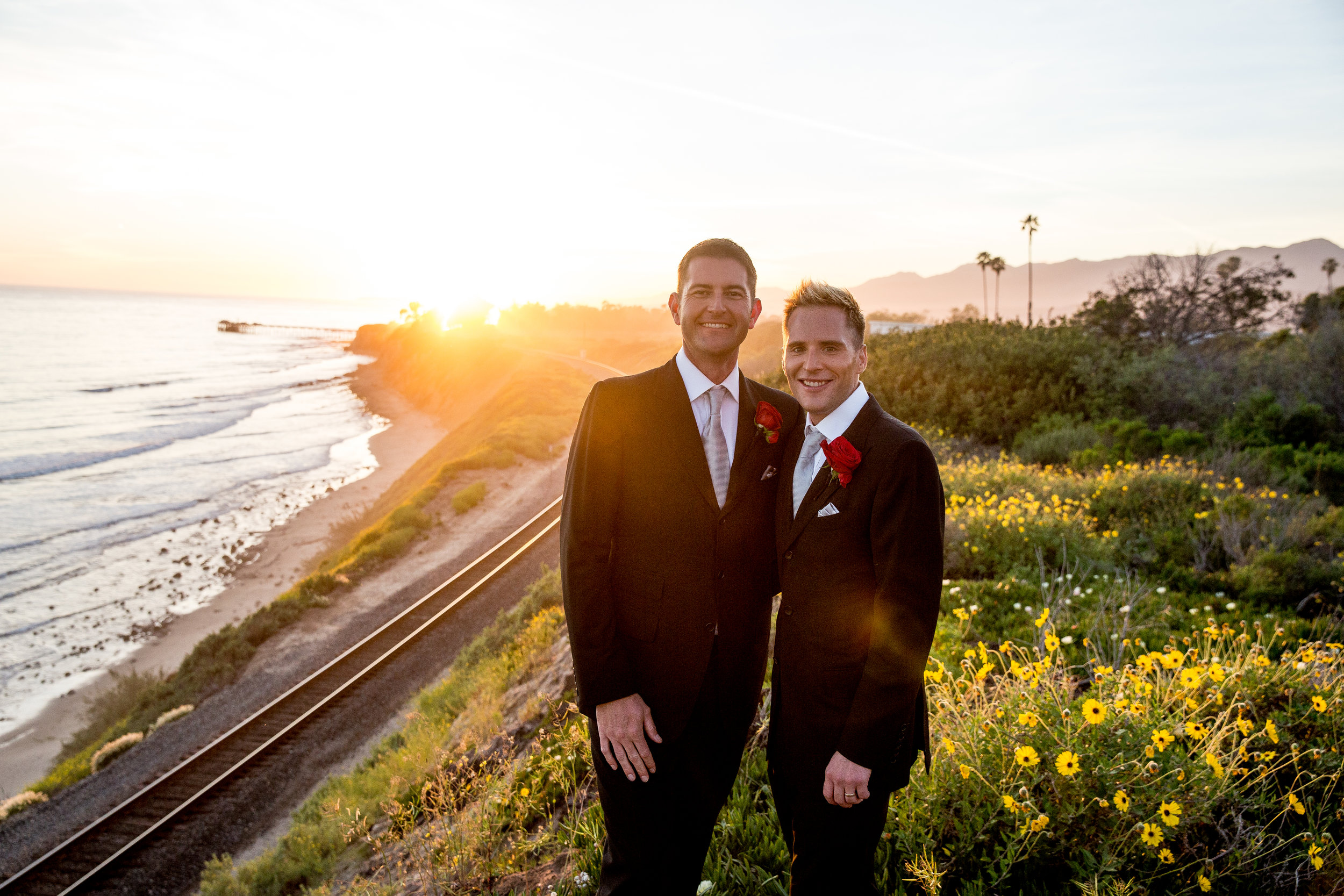 www.santabarbarawedding.com | Head and Heart Photography | Ocean Front Venue | Felici Events | Passion Flowers | Same Sex by the Beach | Gay Wedding