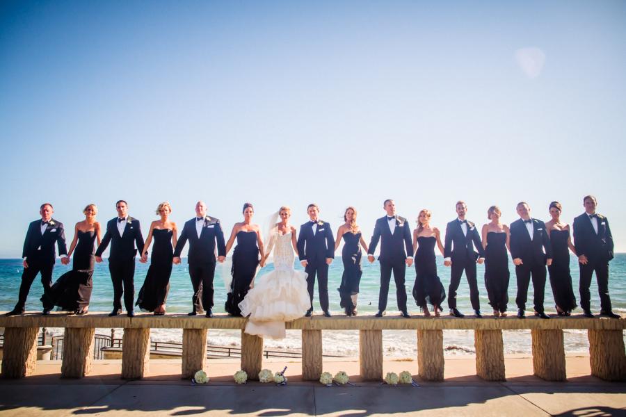 www.santabarbarawedding.com | Jessica Lewis Photography | Four Seasons Resort The Biltmore Santa Barbara | Anna Johnson Events | Lazaro | Floral Designs by Roni | Wedding Party on the Boardwalk