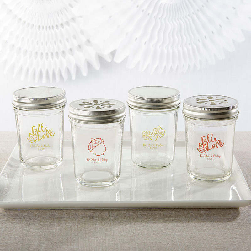 www.santabarbarawedding.com | Kate Aspen | Personalized Printed Glass Mason Jars