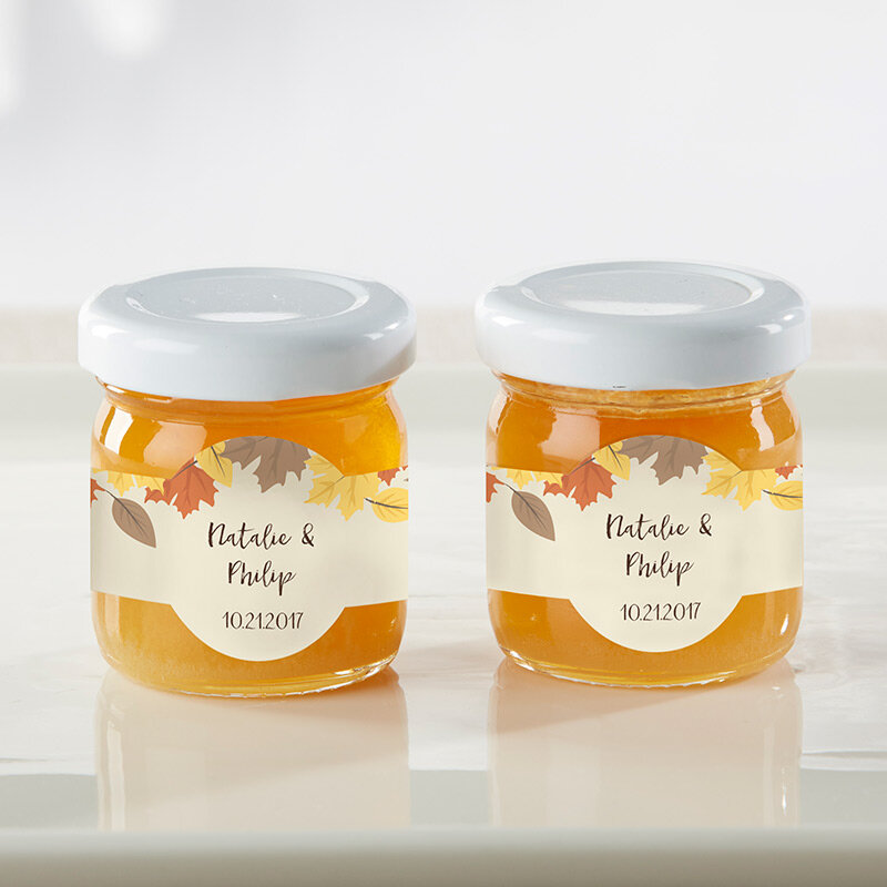 www.santabarbarawedding.com | Kate Aspen | Personalized Honey Jar Wedding Favors